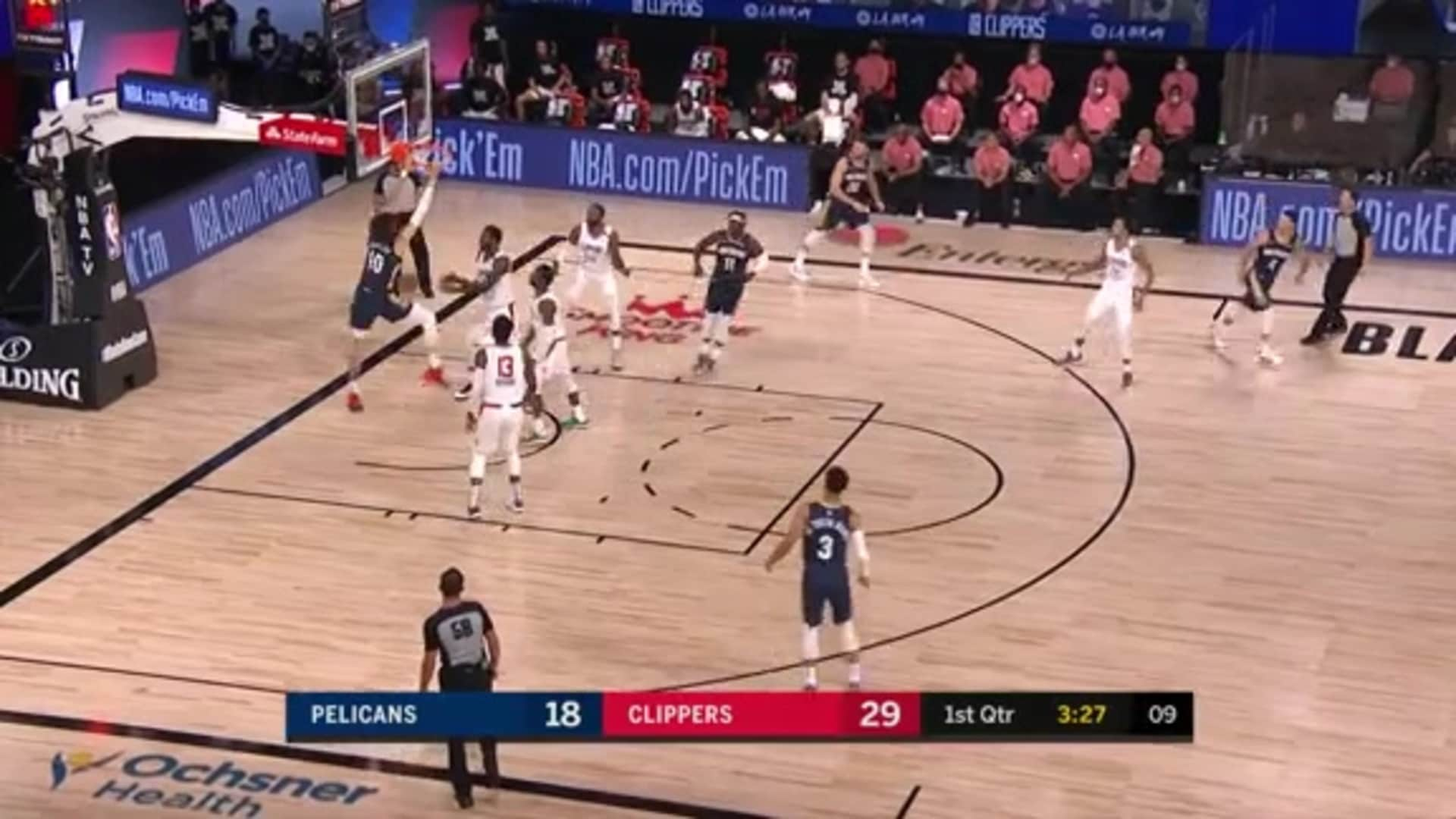 Pelicans-Clippers Highlights: Jaxson Hayes alley-oop dunk