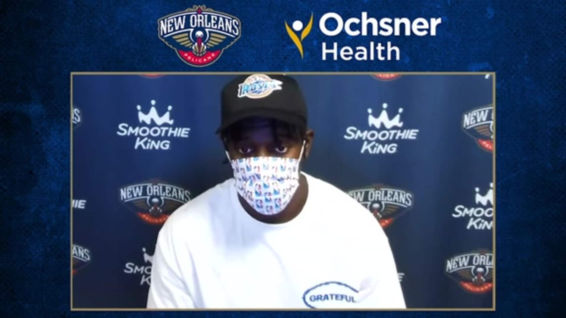 Pelicans Postgame Interview: Jrue Holiday evaluates the team's loss to the Clippers