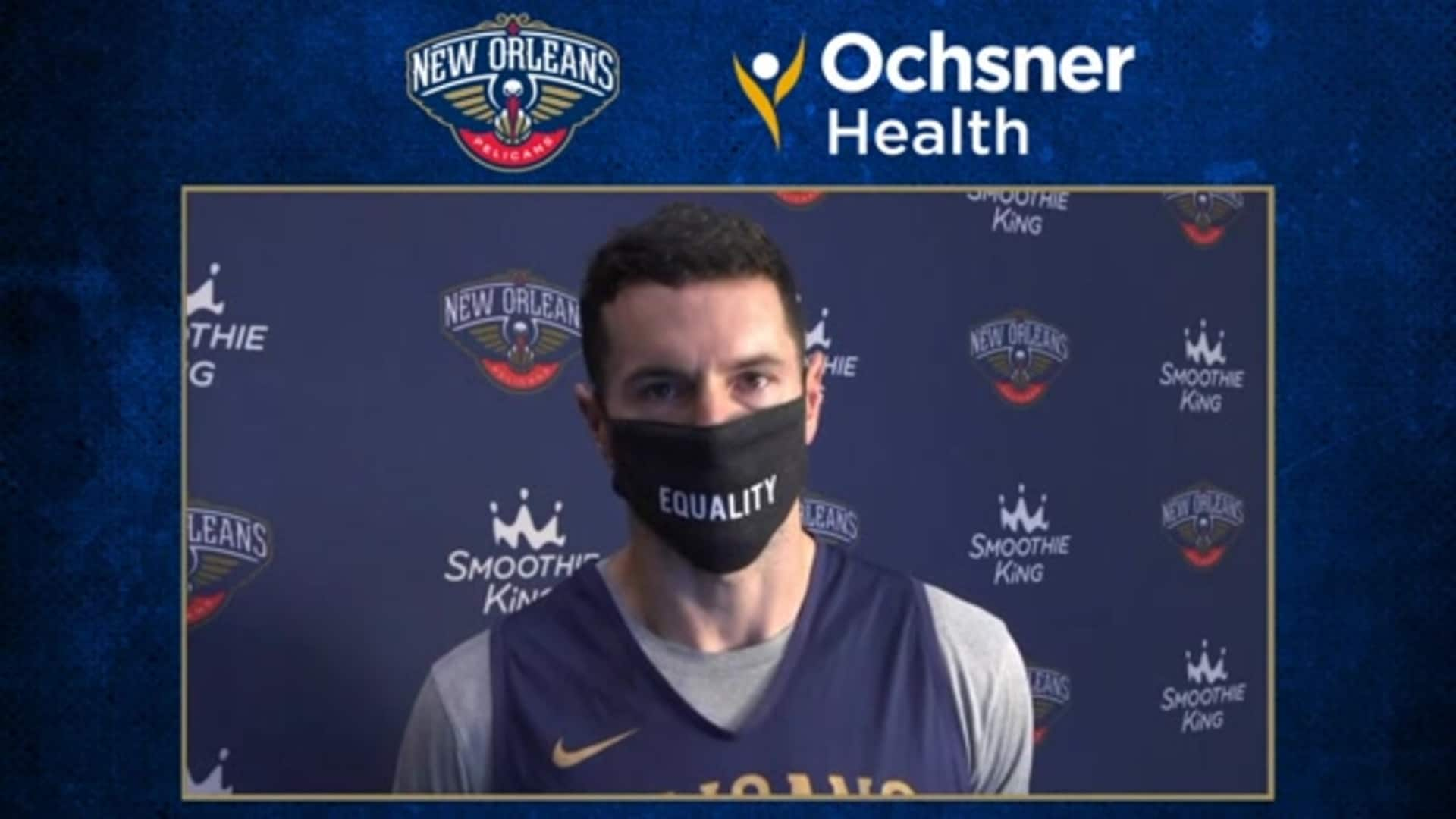 Ochsner Pelicans Practice: JJ Redick talks importance of tonight's game vs. Memphis Grizzlies