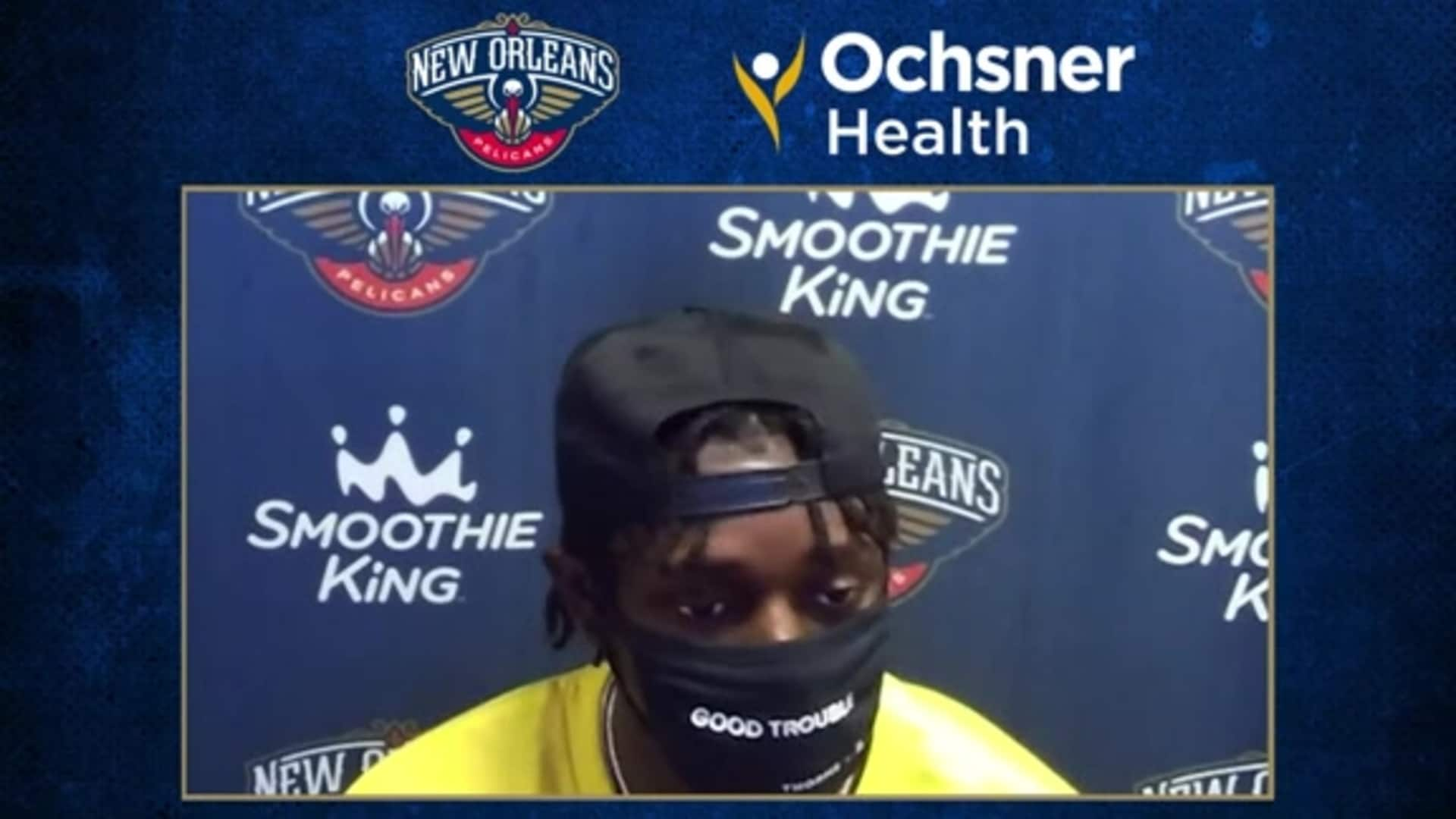Pelicans Postgame Interview: Jrue Holiday on Pelicans' success vs. Memphis Grizzlies