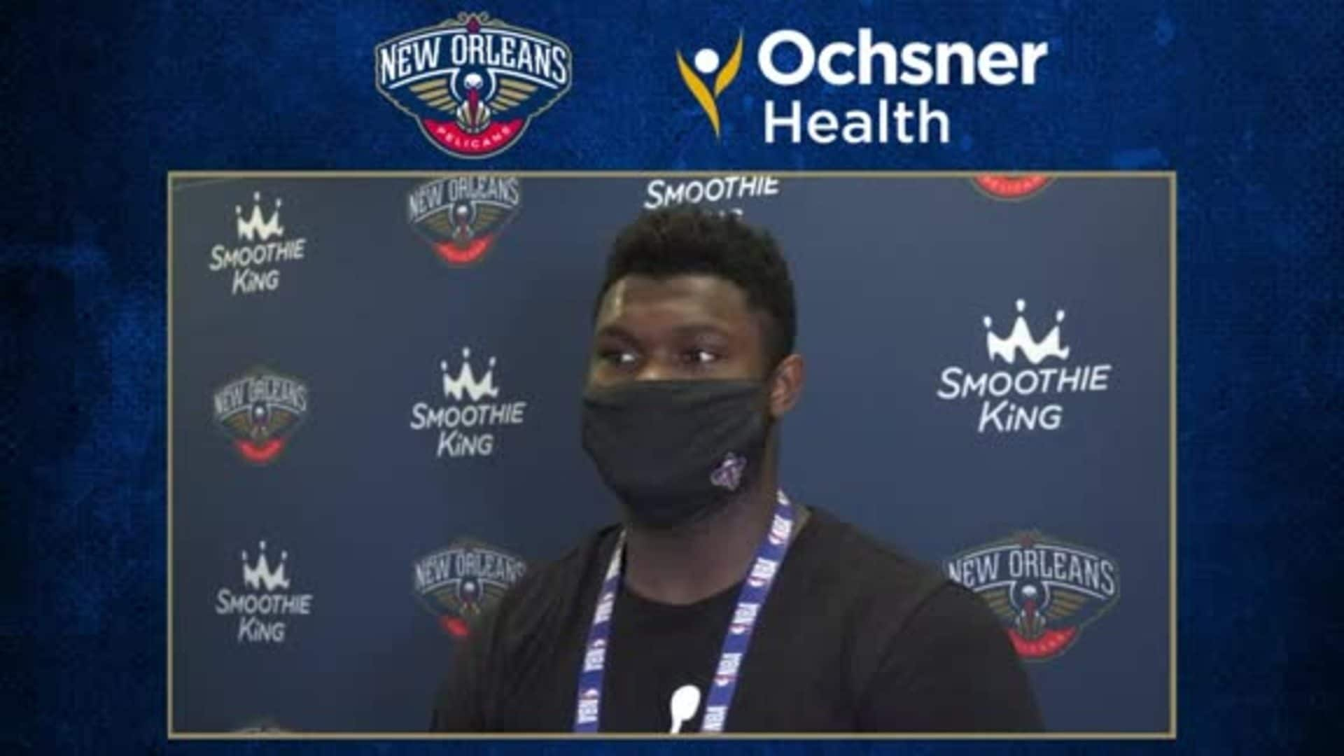 Pelicans Postgame Interview: Zion Williamson
