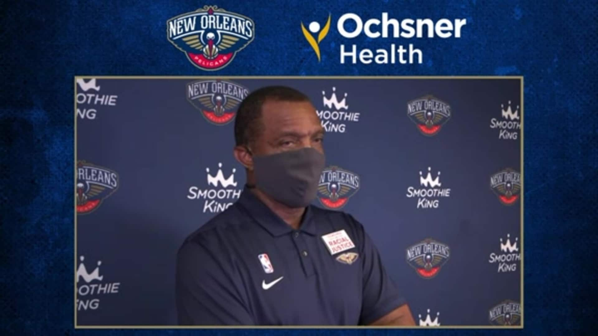 Alvin Gentry postgame interview (8/6/20) | Pelicans-Kings