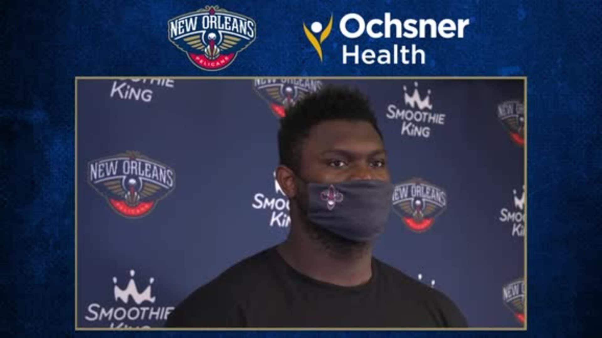 Zion Williamson postgame interview (8/6/20) | Pelicans-Kings