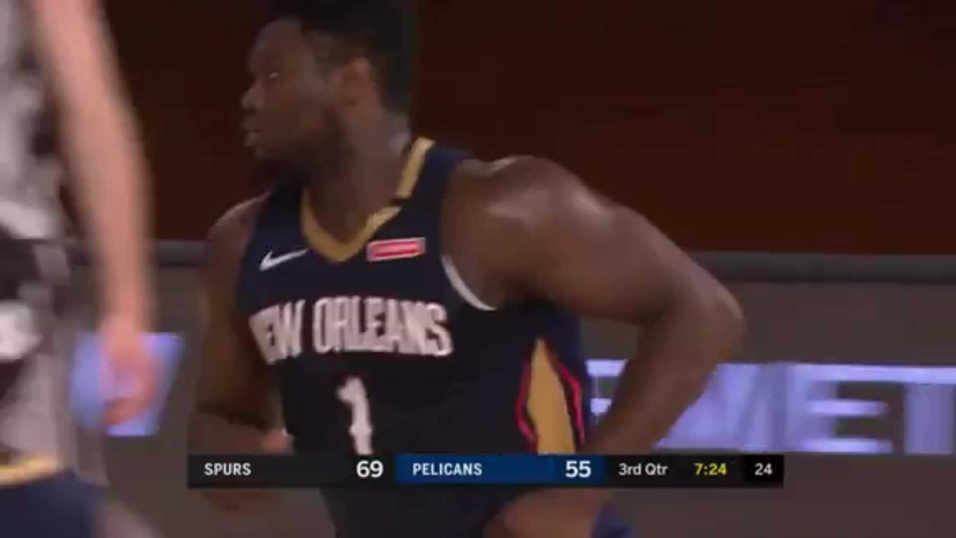 Pelicans vs. Spurs Highlights: Zion Williamson spin and slam