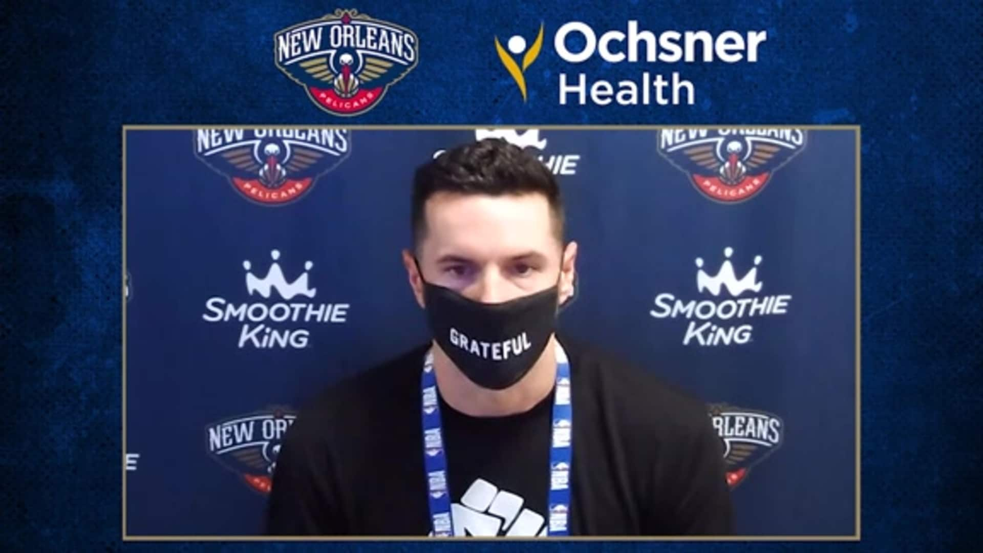 Pelicans Postgame Interview: JJ Redick talks about the team's first half struggles