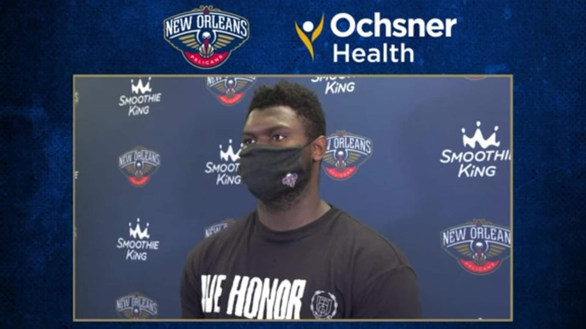 Pelicans Postgame Interview: Zion Williamson talks about bouncing back from the loss to San Antonio
