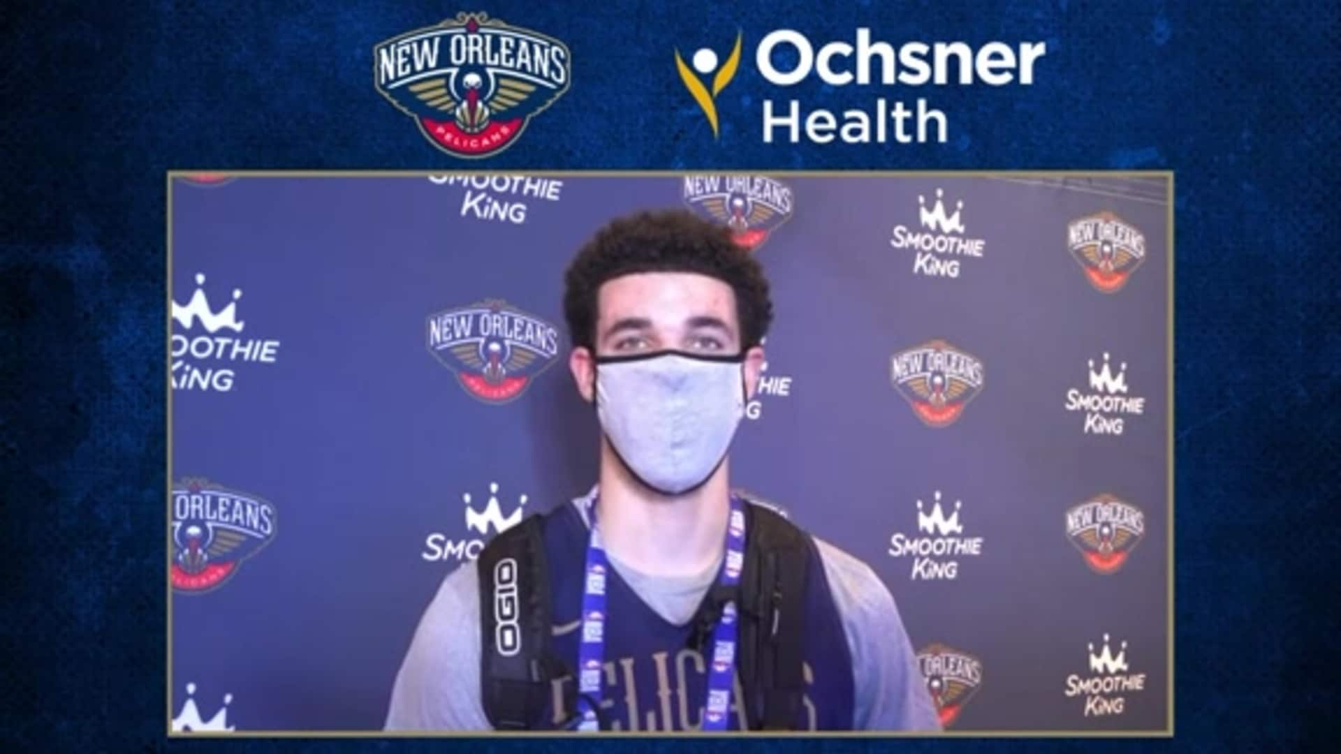 Lonzo Ball ready to bounce back in 2020-21 season | Ochsner Pelicans Practice