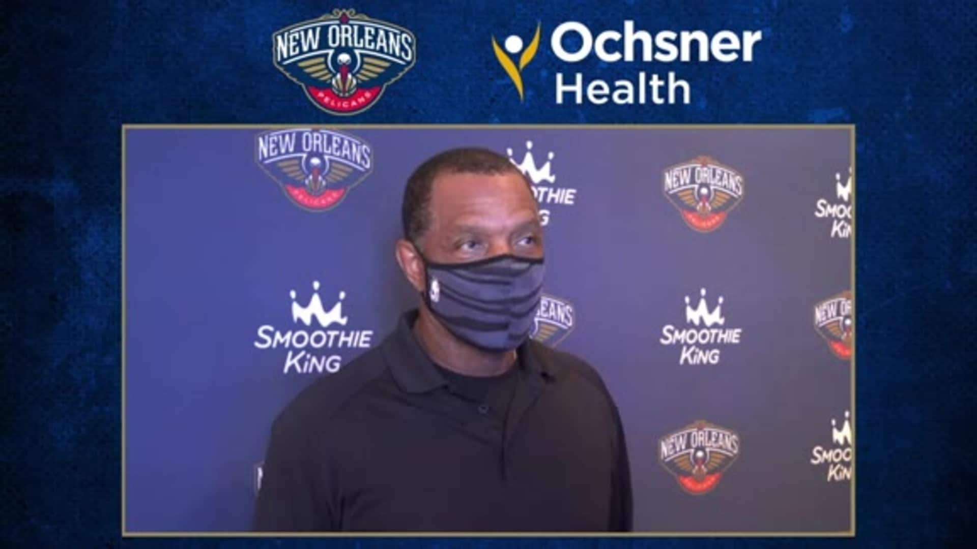 Alvin Gentry talks Pelicans roster for final bubble games | Ochsner Pelicans Practice