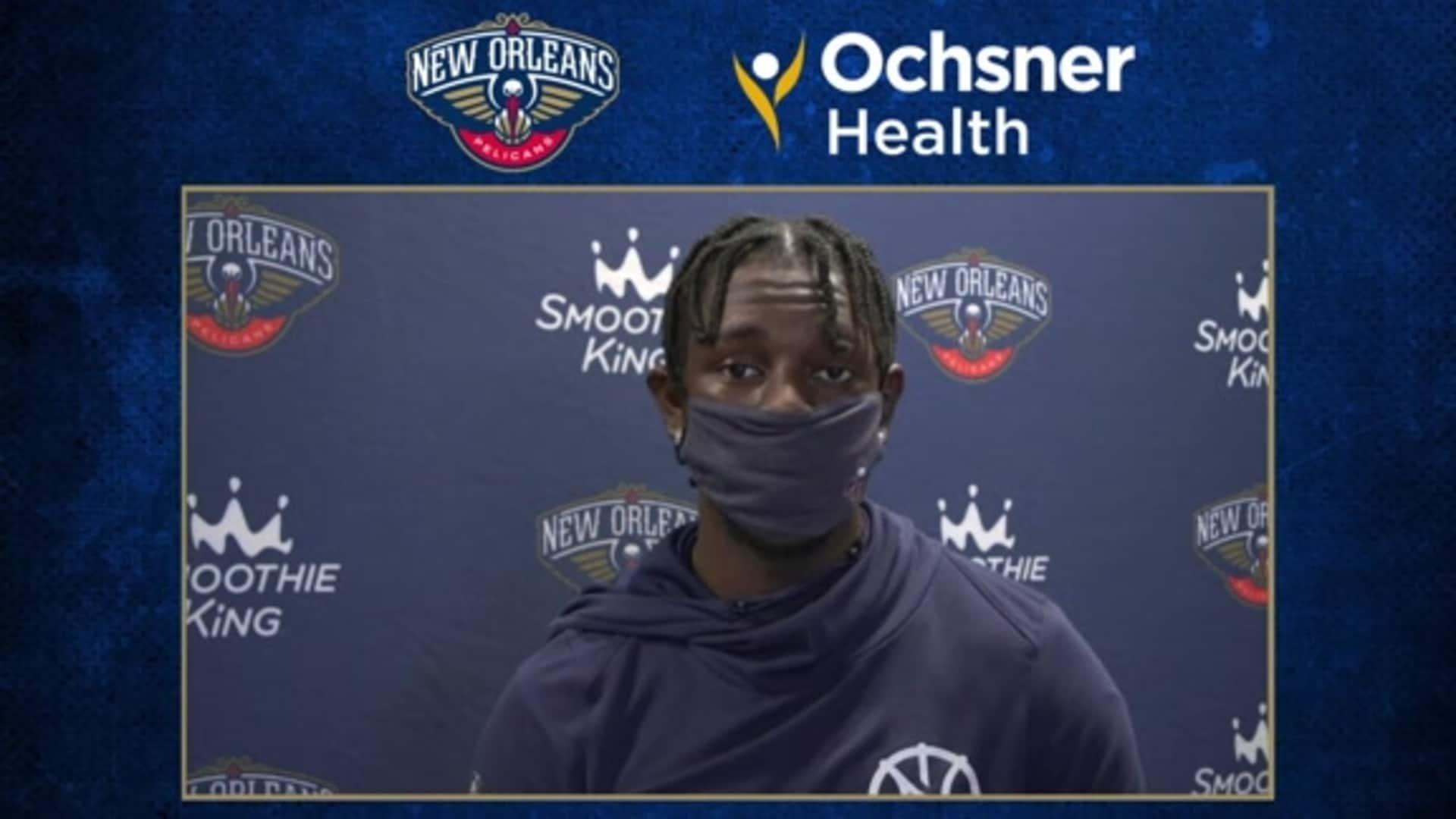 Pelicans Shootaround: Jrue Holiday 8-11-20