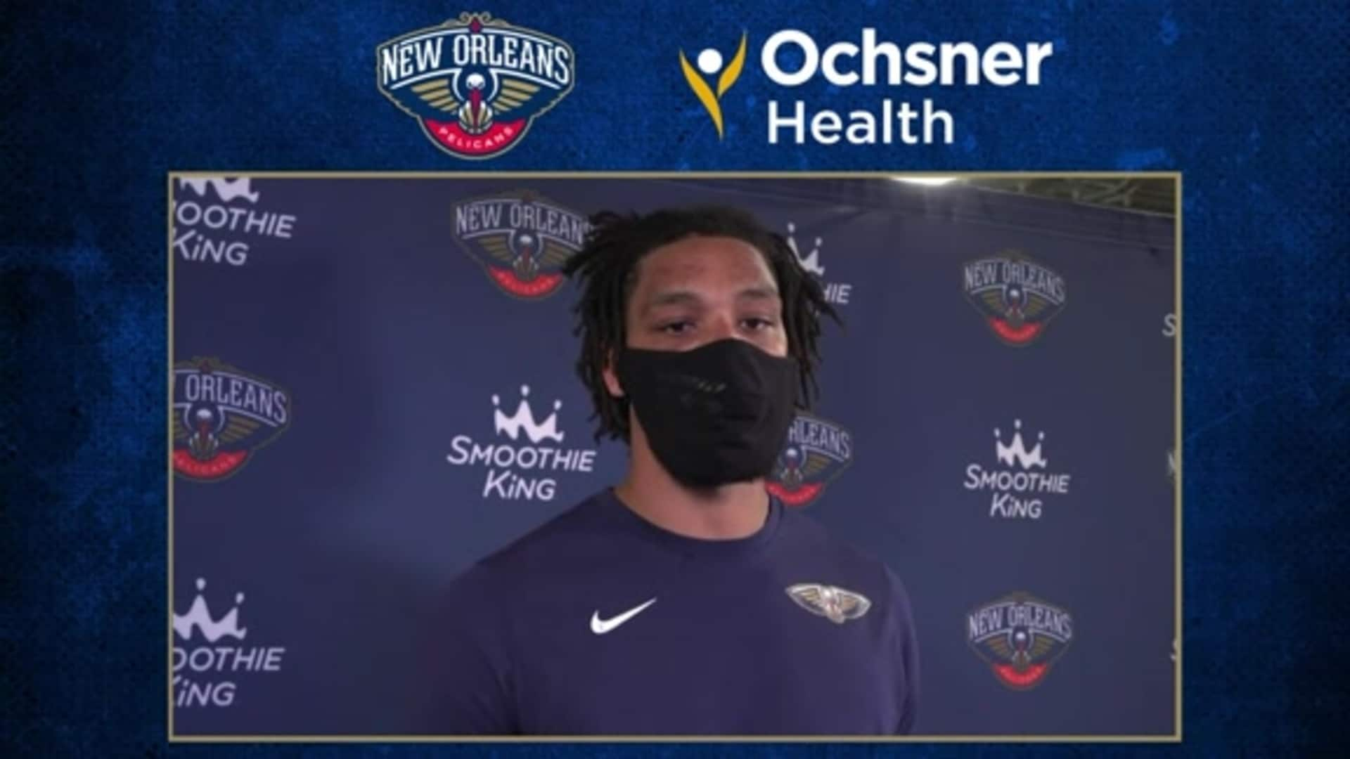 Pelicans Postgame Interview: Jahlil Okafor talks staying ready when his number is called