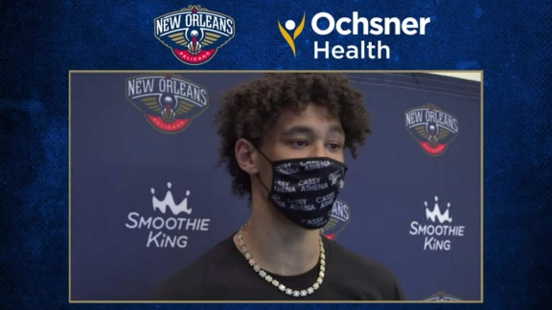 Jaxson Hayes postgame interview (8/13/20) | Pelicans-Magic