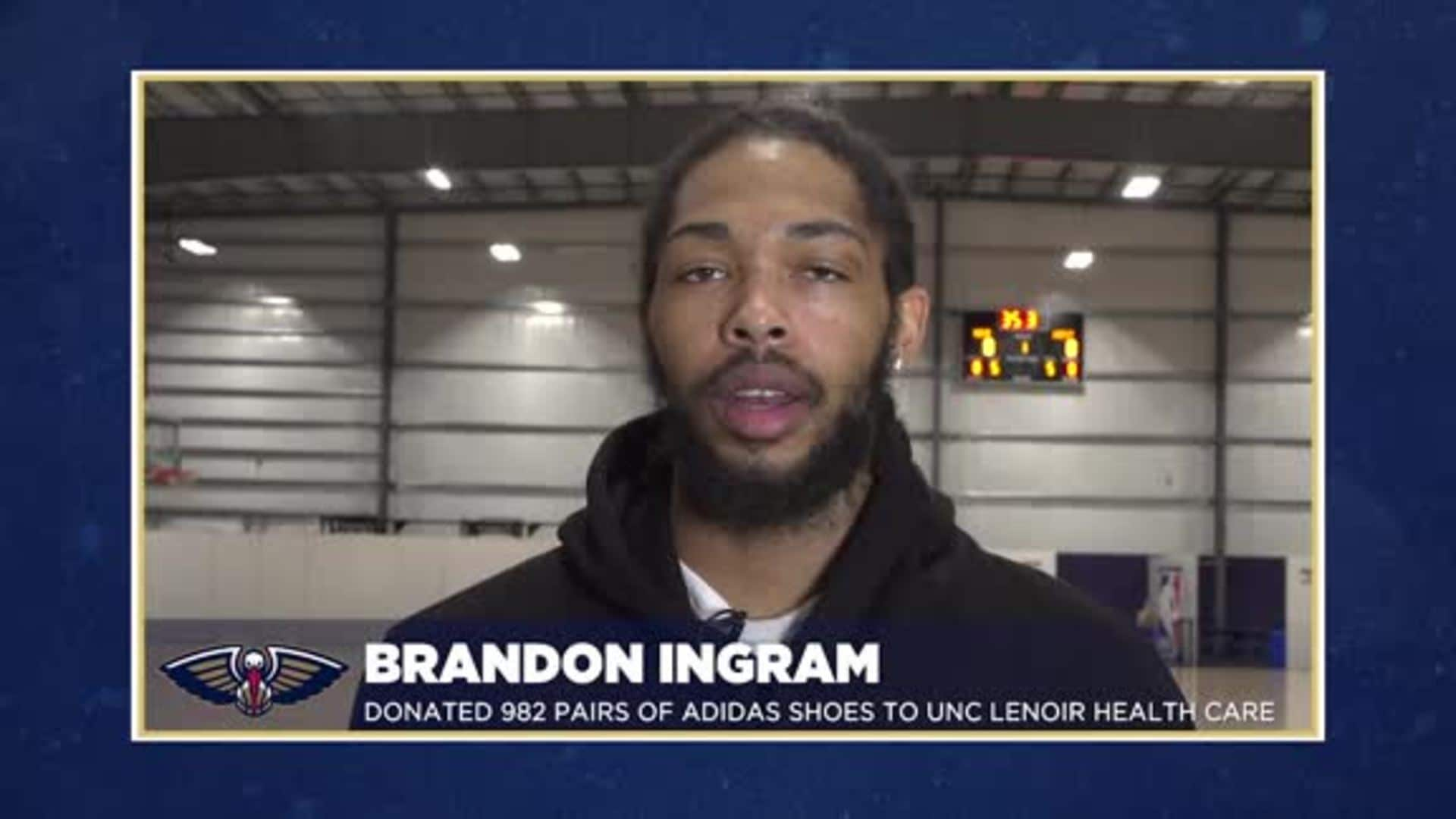 Brandon Ingram donates 982 pairs of shoes to frontline workers