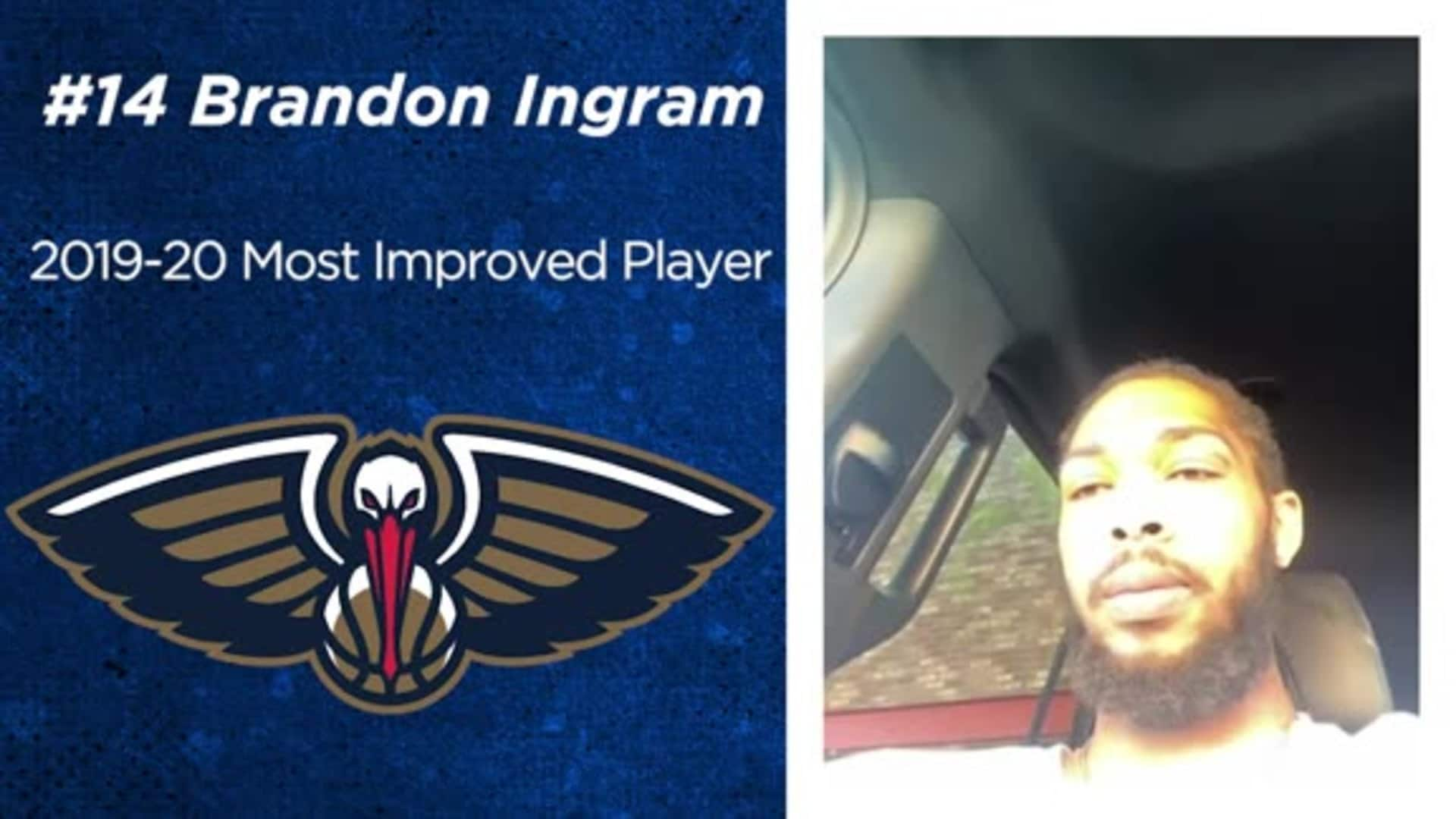 Pelicans forward Brandon Ingram shares his thoughts on winning Most Improved Player of the Year award