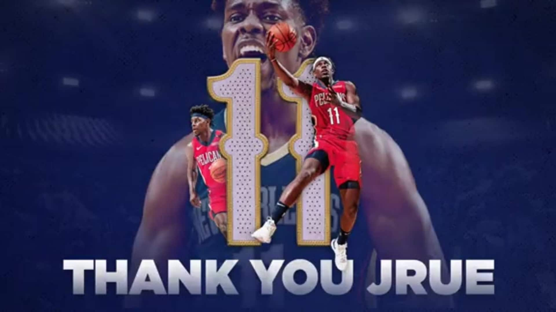 THANK YOU JRUE: Pelicans wish Jrue Holiday the best