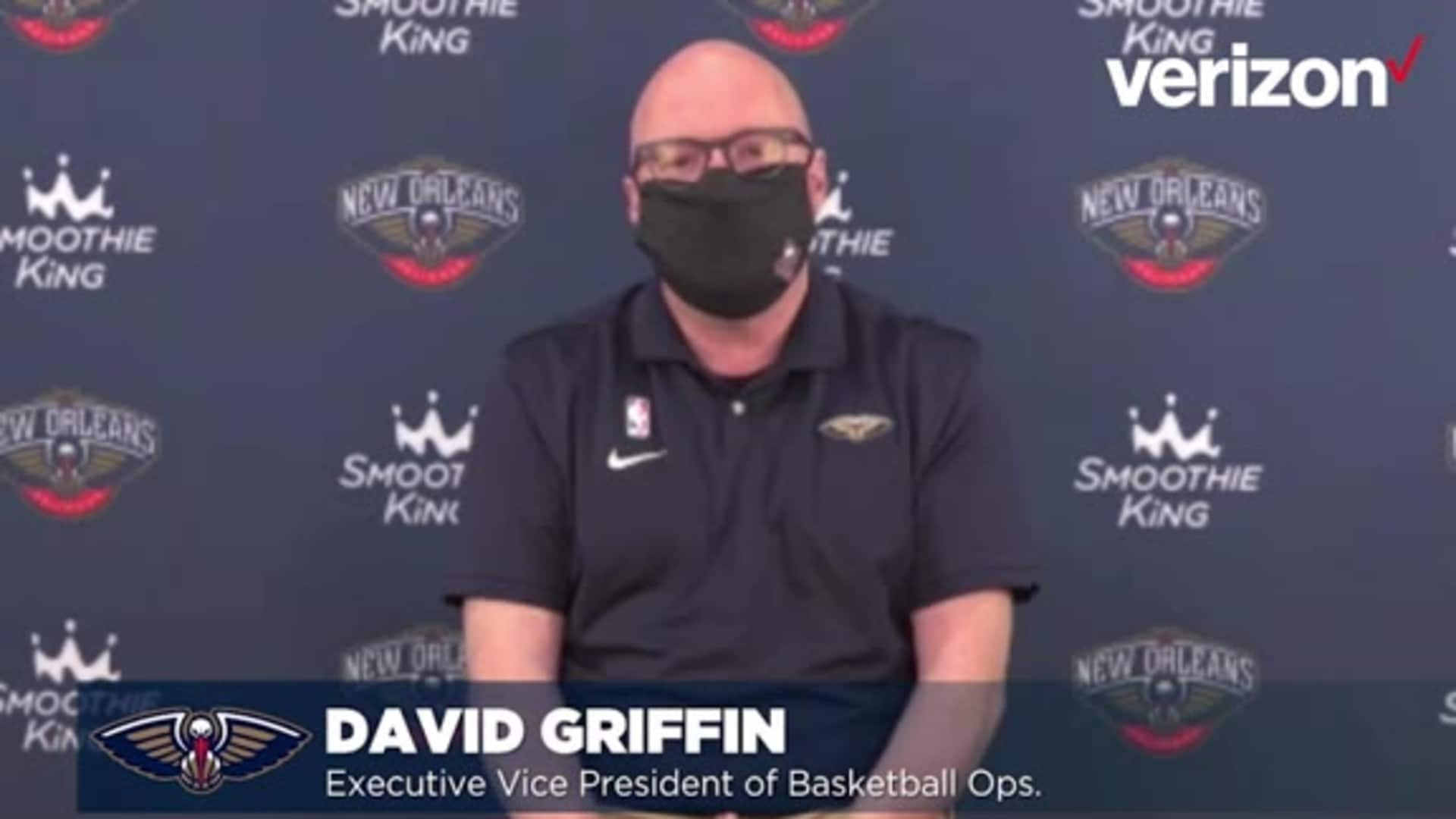 David Griffin on Pelicans' upcoming 2020-21 NBA season ahead of player workouts