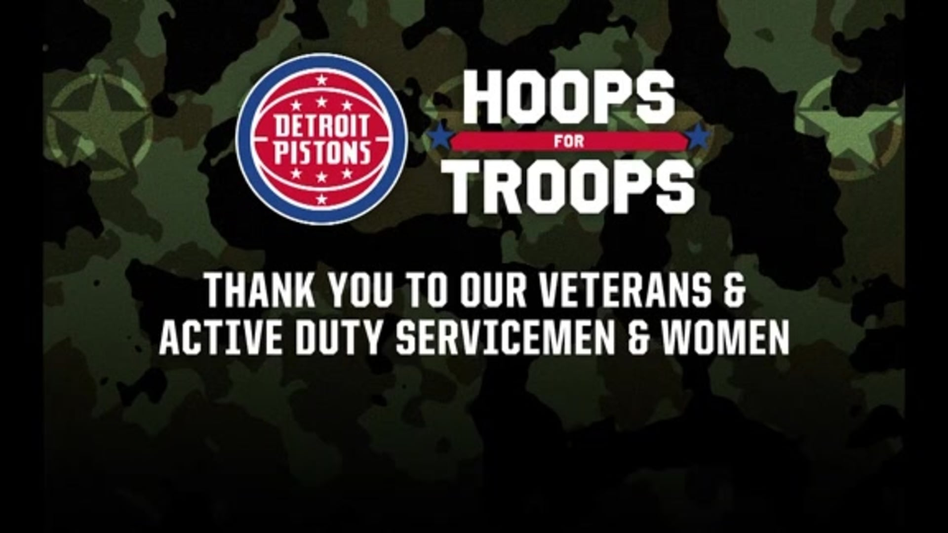 Pistons in the Community: Hoops for Troops