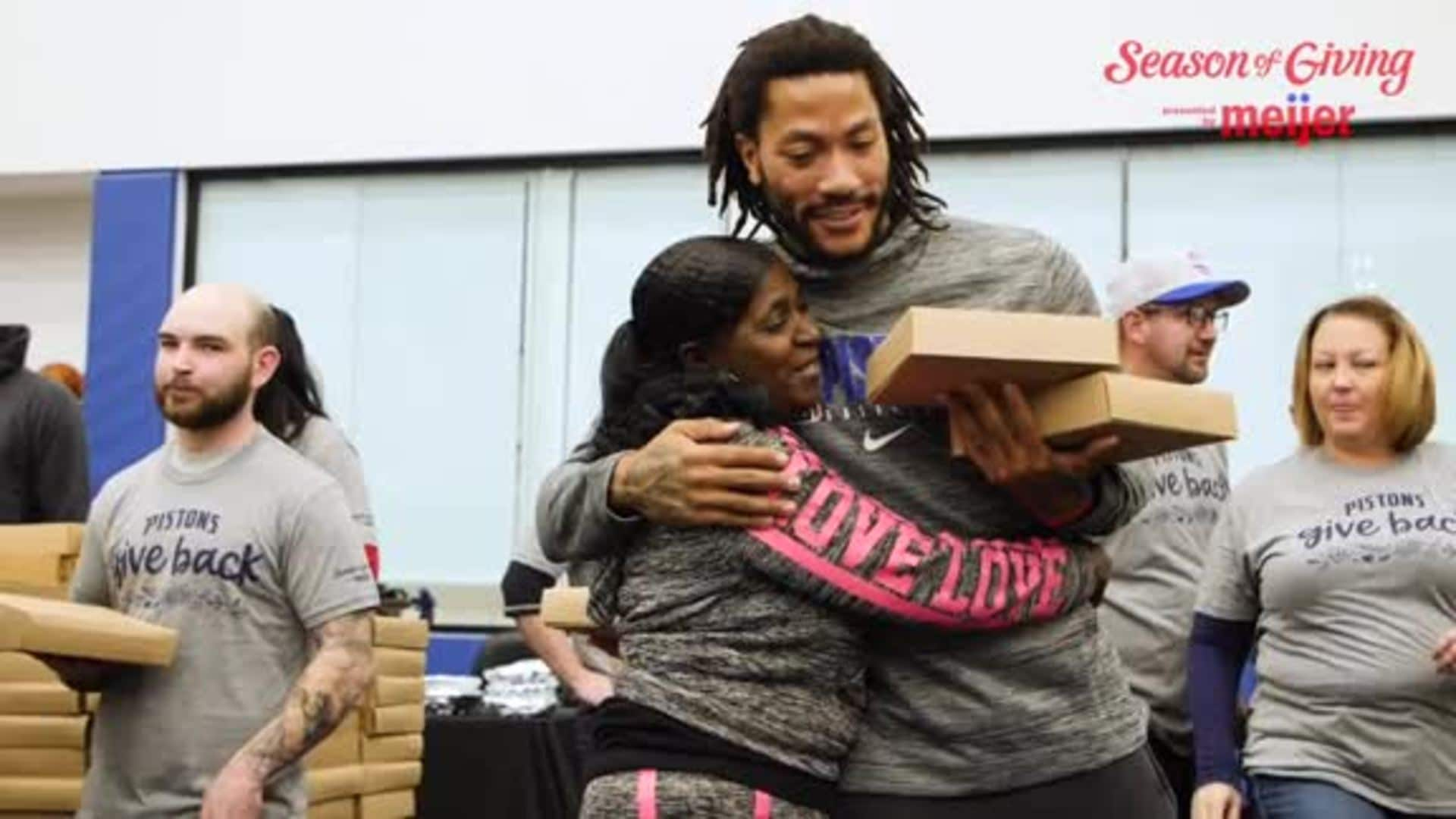 Pistons in the Community: Pistons Give Back Event 2019