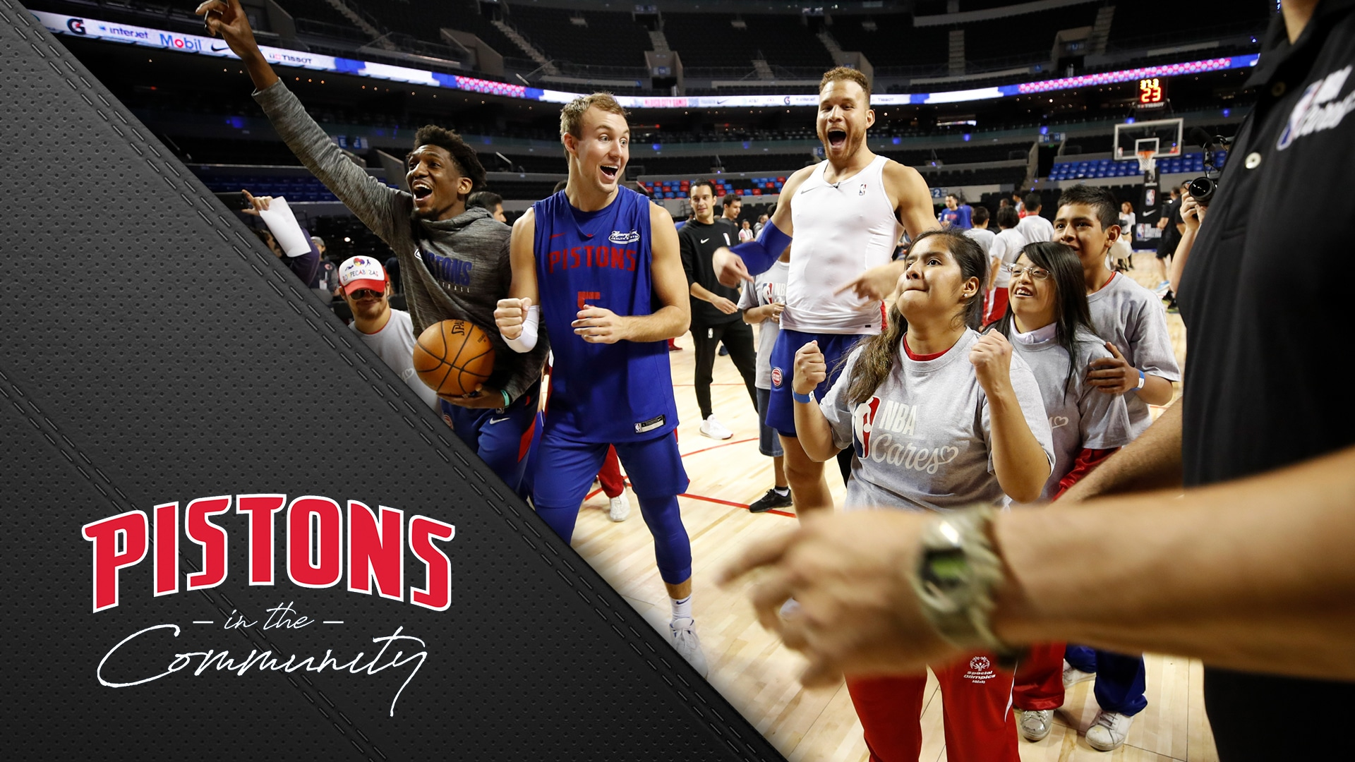 Pistons in the Community: Special Olympics Mexico Clinic