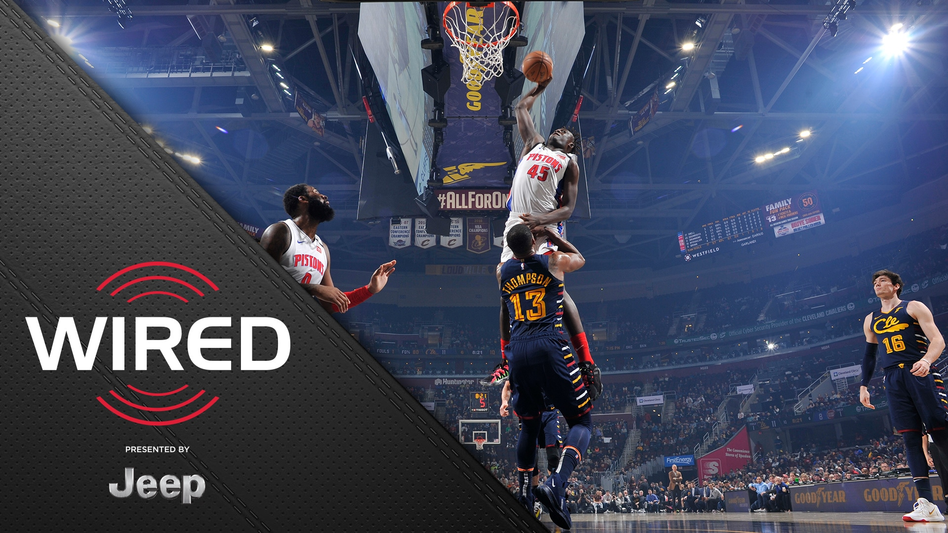 Wired, presented by Jeep: Pistons vs Cleveland Cavaliers
