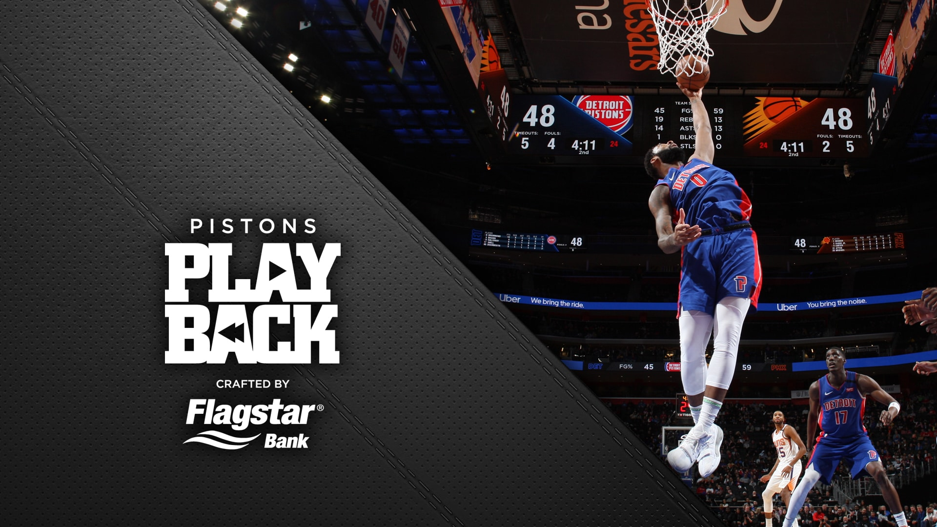 Drummond leads Pistons to victory | Pistons Playback, crafted by Flagstar: Pistons vs Suns