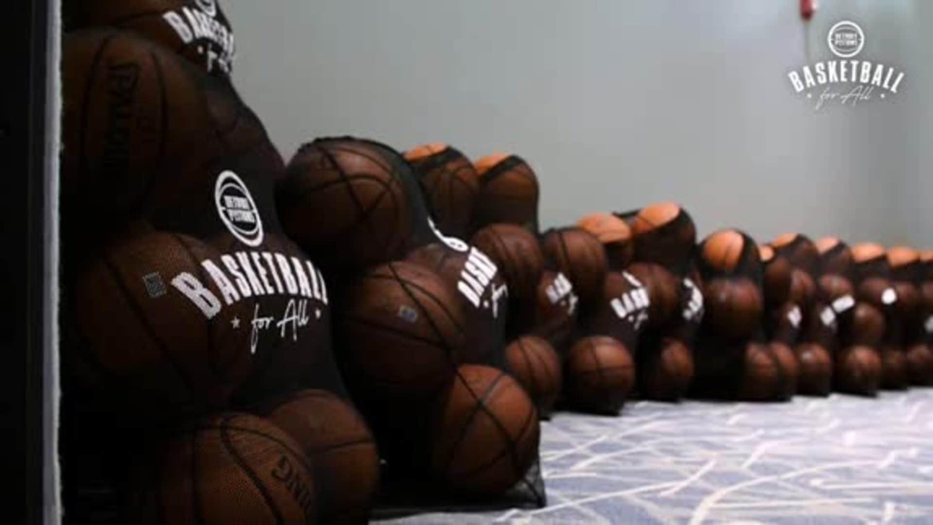 Basketball for All: Pistons Surprise Rutherford Winans Academy
