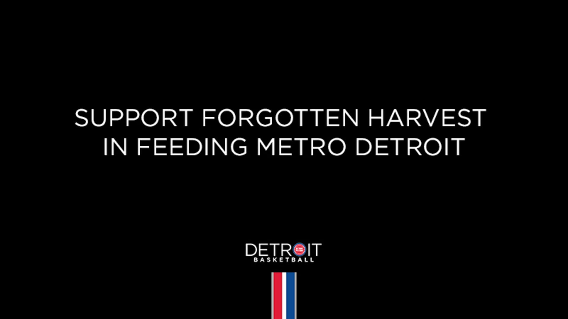 Pistons, Partners Provide Grant to Forgotten Harvest