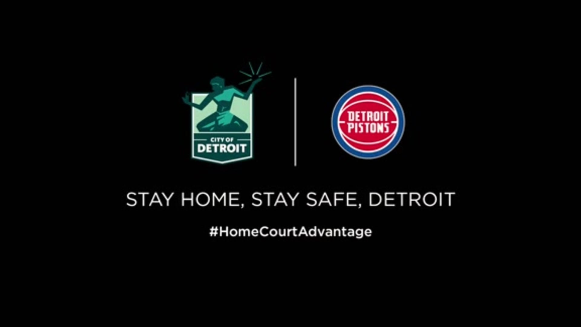 PSA from the Pistons and the City of Detroit