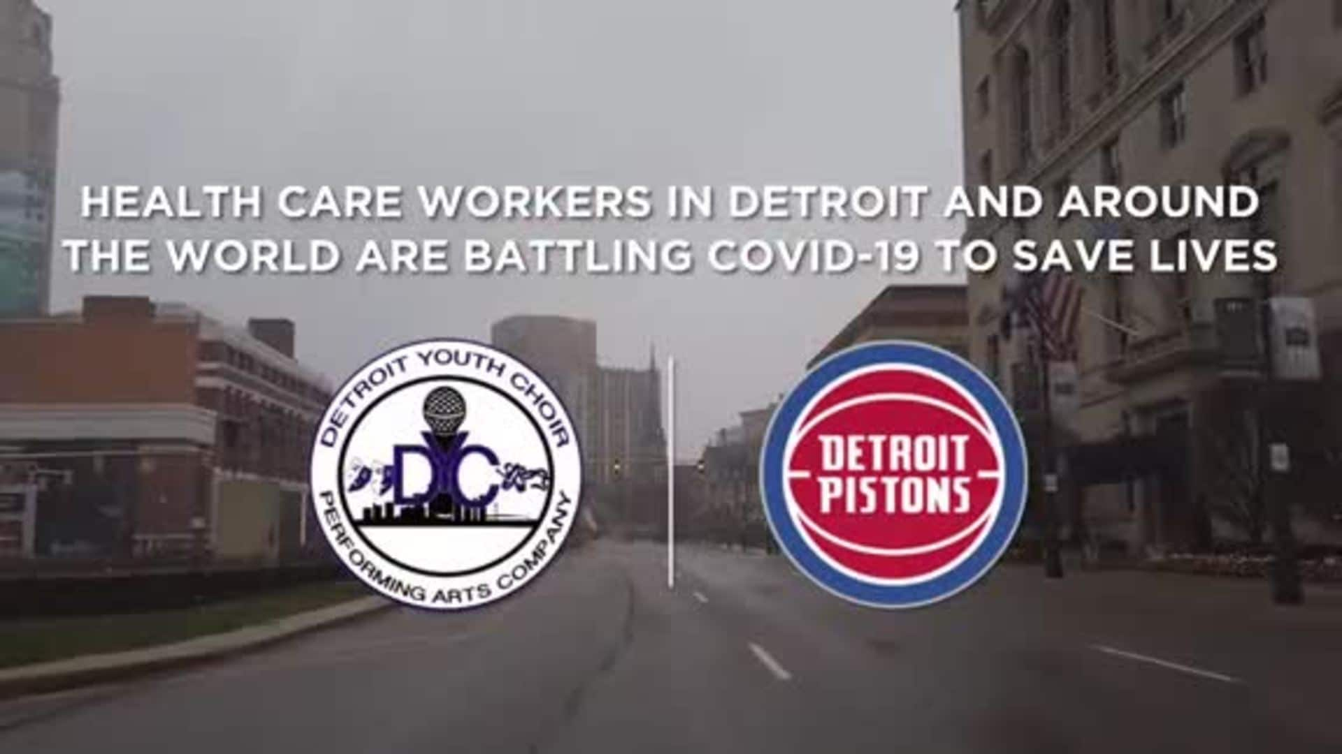 The Pistons and the Detroit Youth Choir