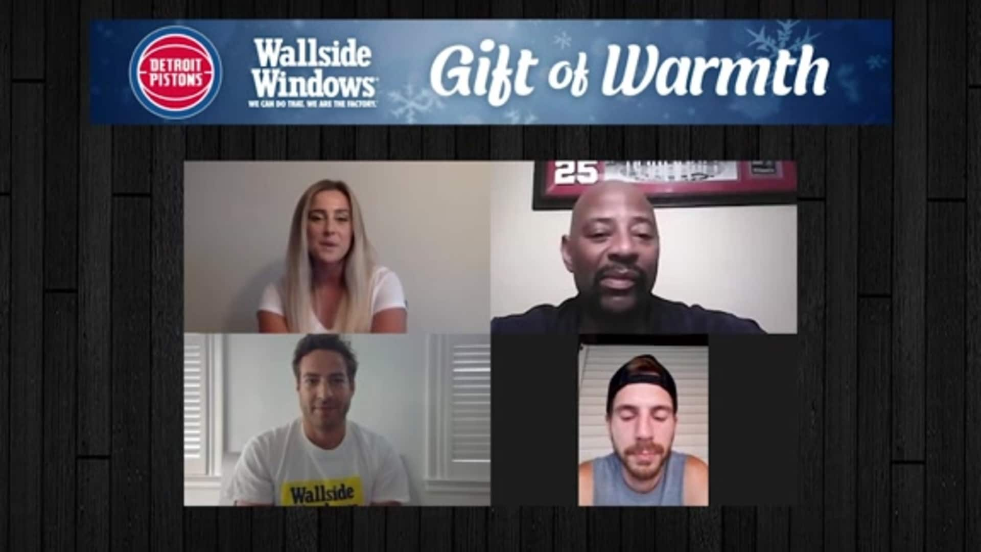Pistons and Wallside Windows Team Up for Gift of Warmth