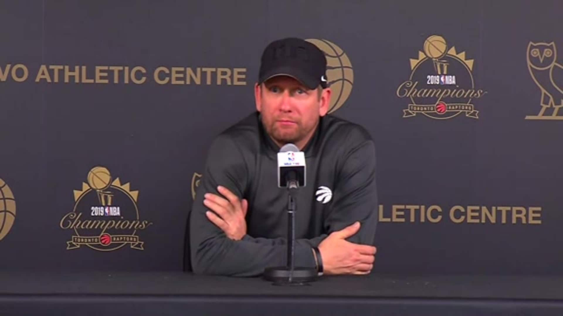 Raptors Practice: Nick Nurse - November 19, 2019
