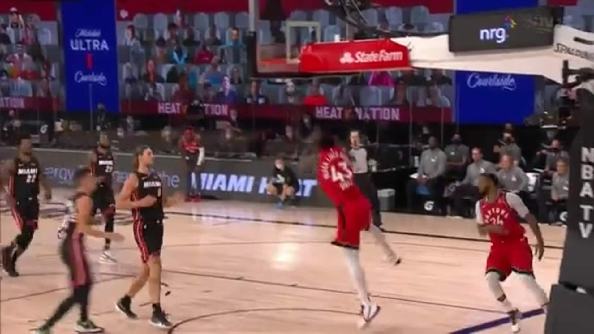 Raptors Highlights: Siakam Alley Oop - August 3, 2020