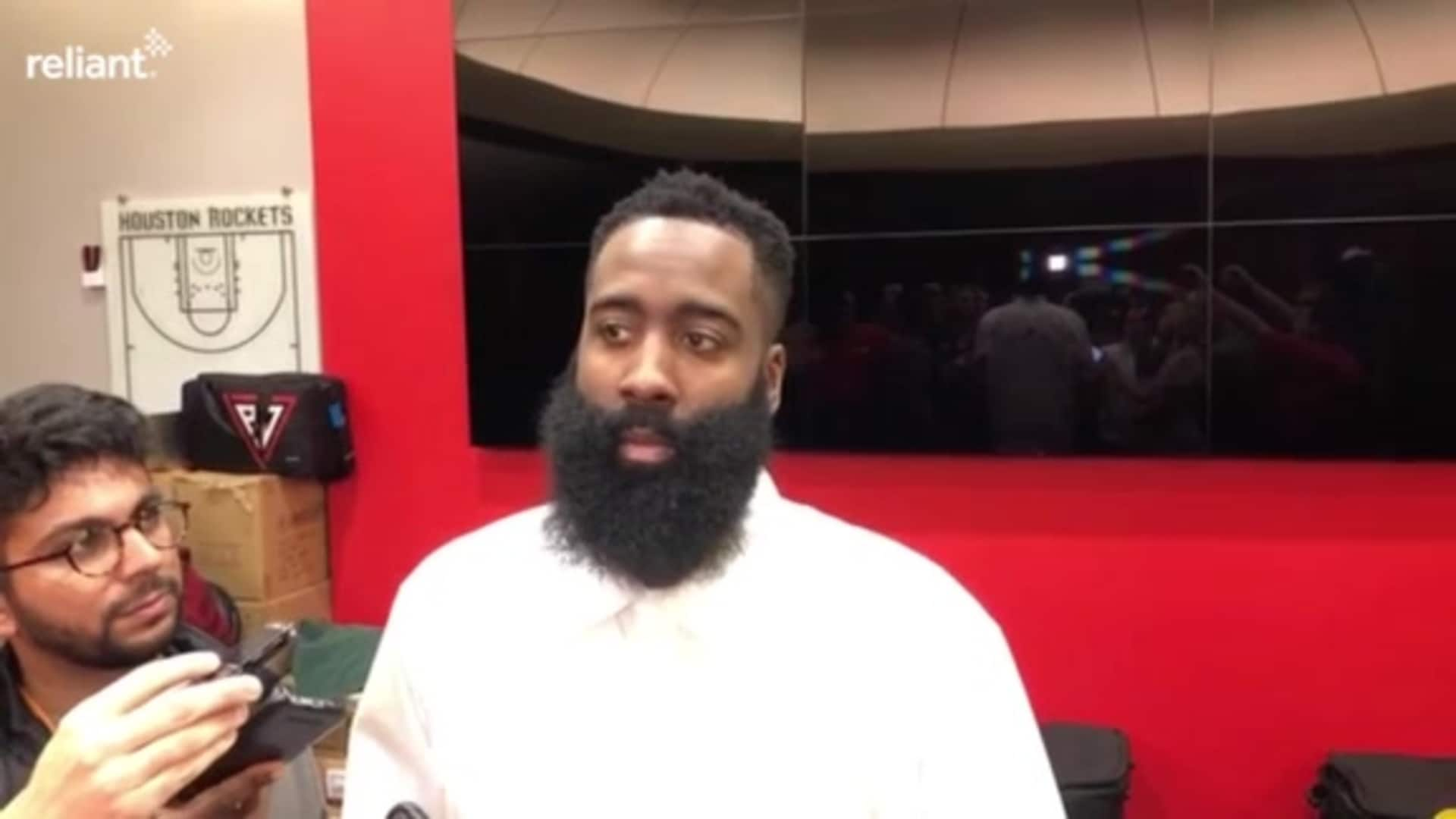 Postgame Interviews: James Harden 12-7-19