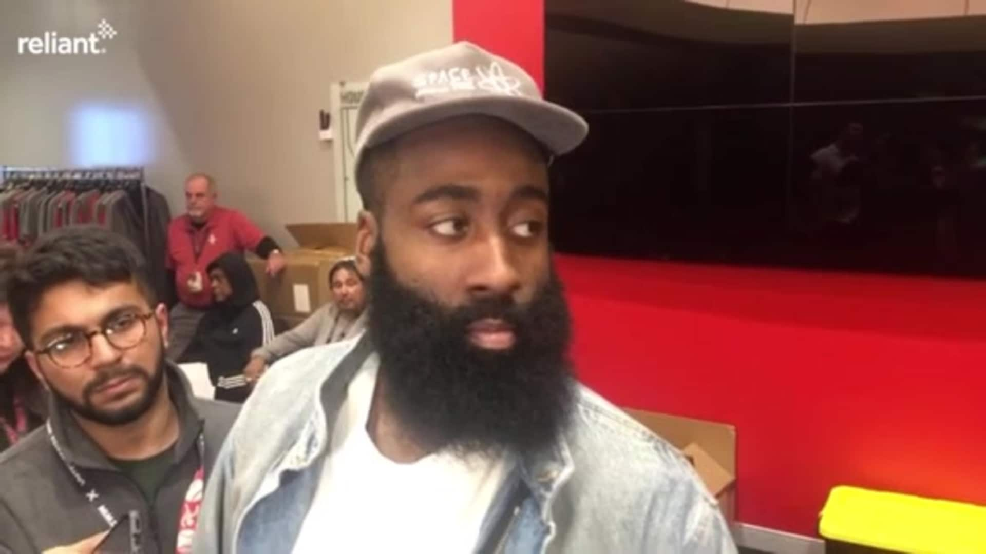 Postgame Interviews: James Harden 1-20-20