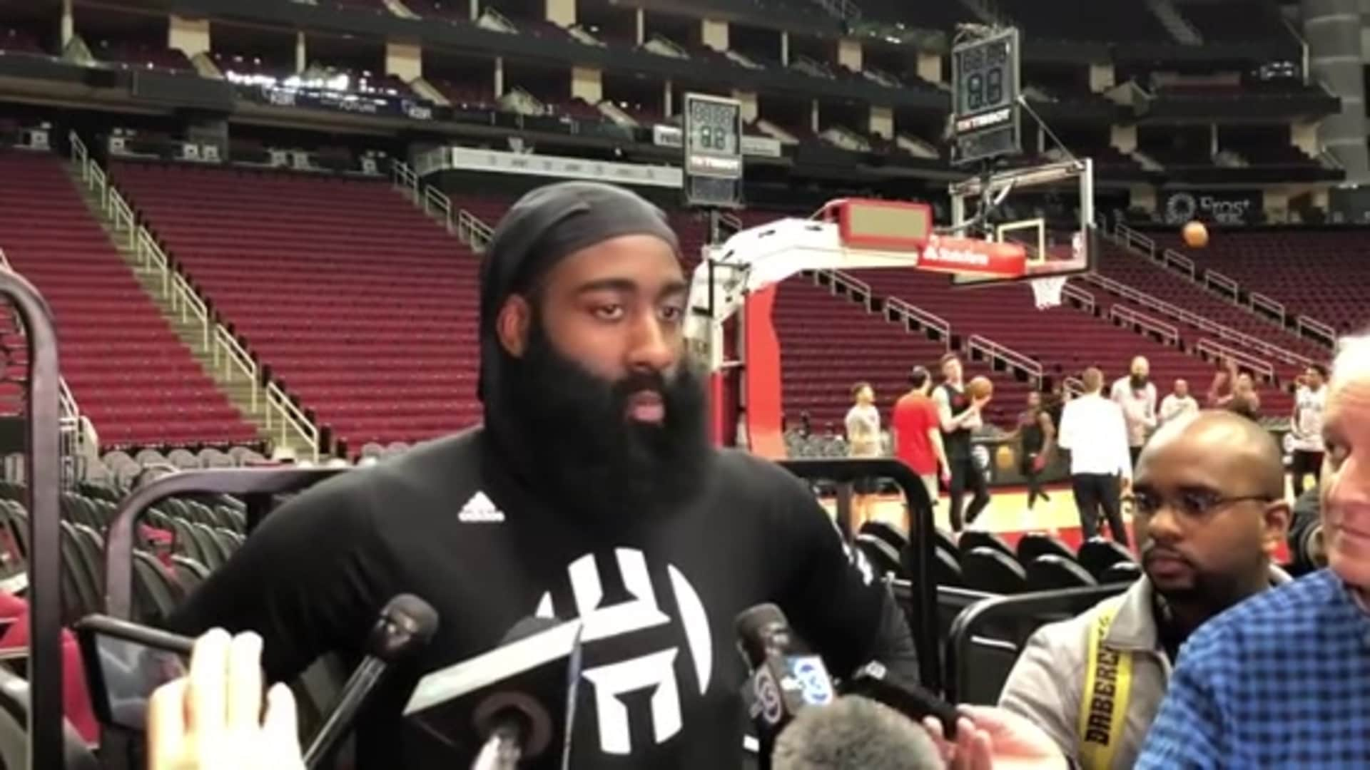 Practice Interviews: James Harden 1/21/20