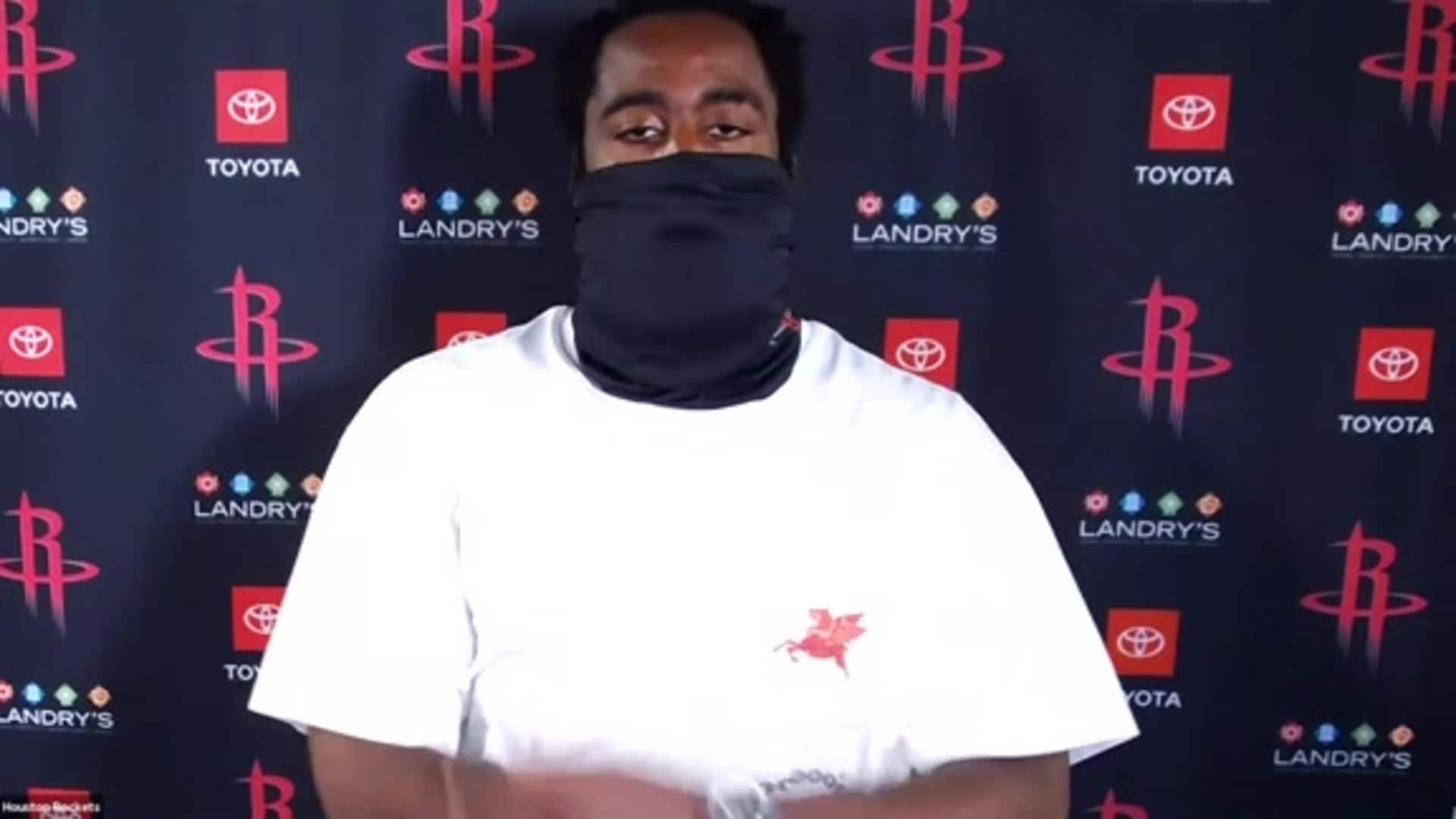 Postgame Interviews 8/6/20: James Harden