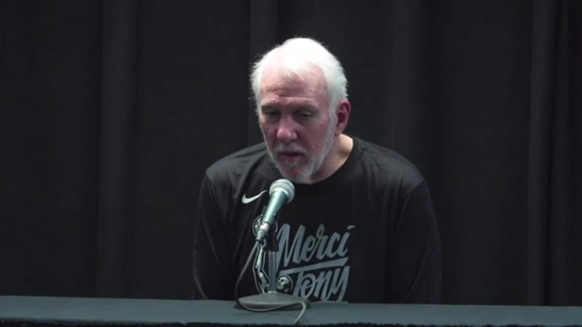 Gregg Popovich - Pregame 11/11 Tony Parker Retirement Night