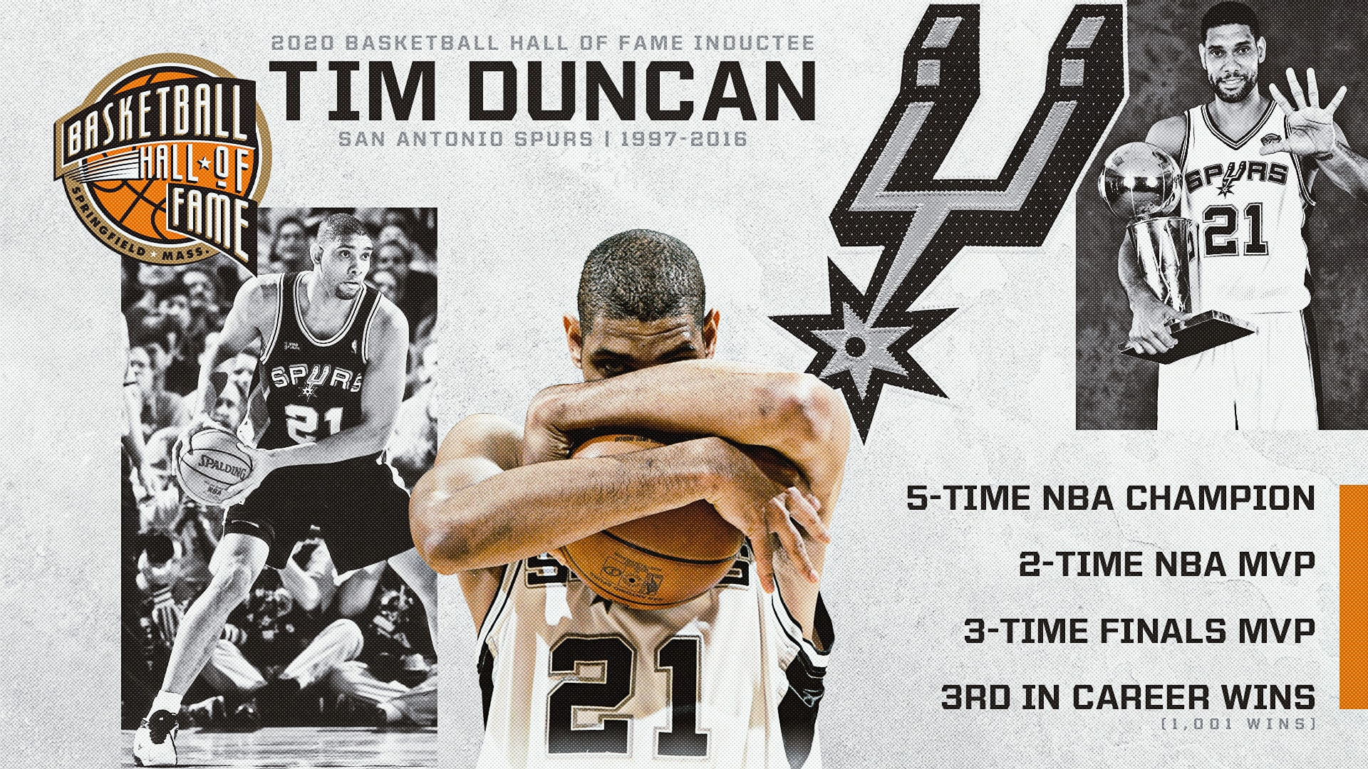 Tim Duncan Inducted into Hall of Fame