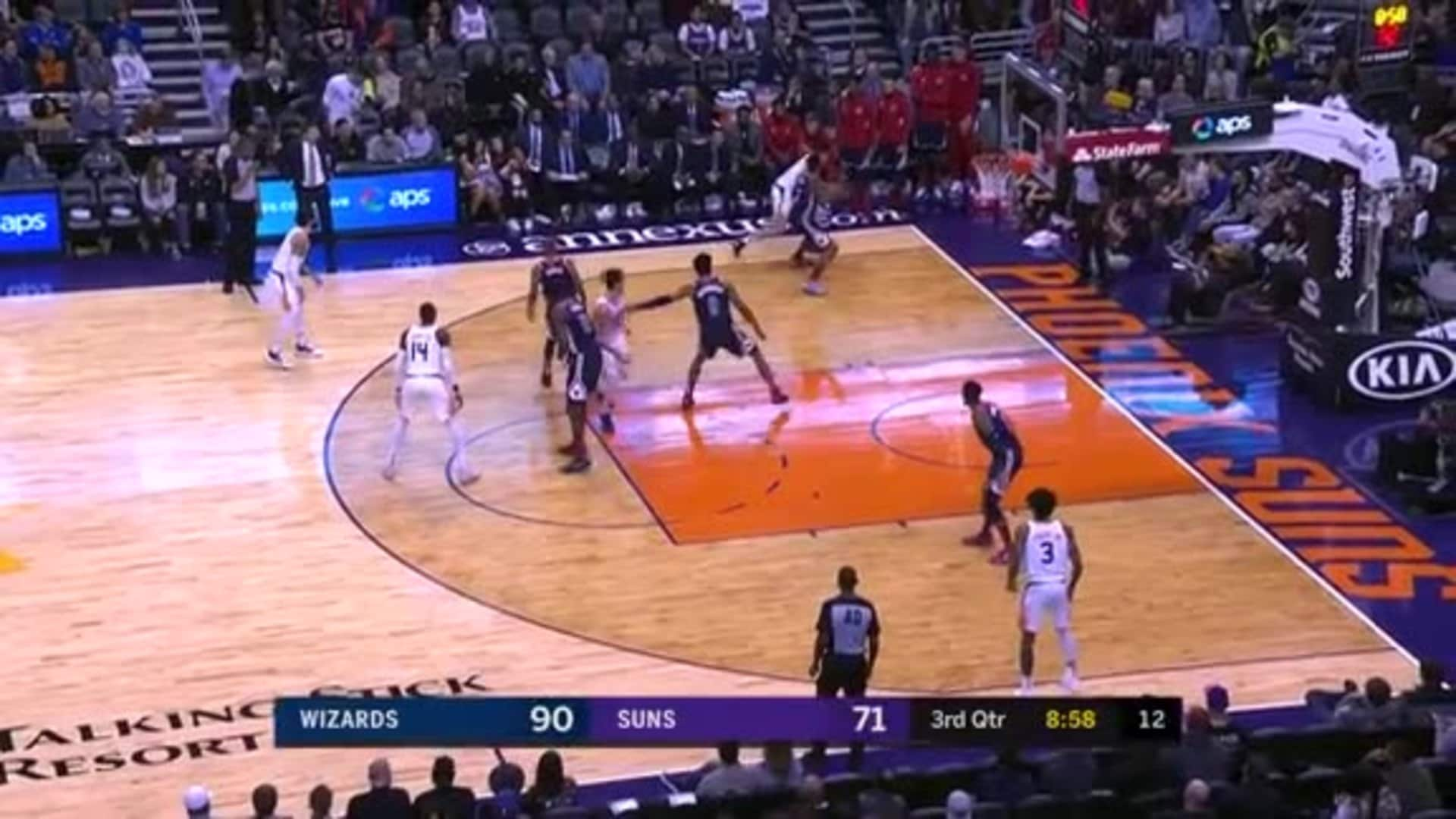 Devin Booker Whizzes by Wizards
