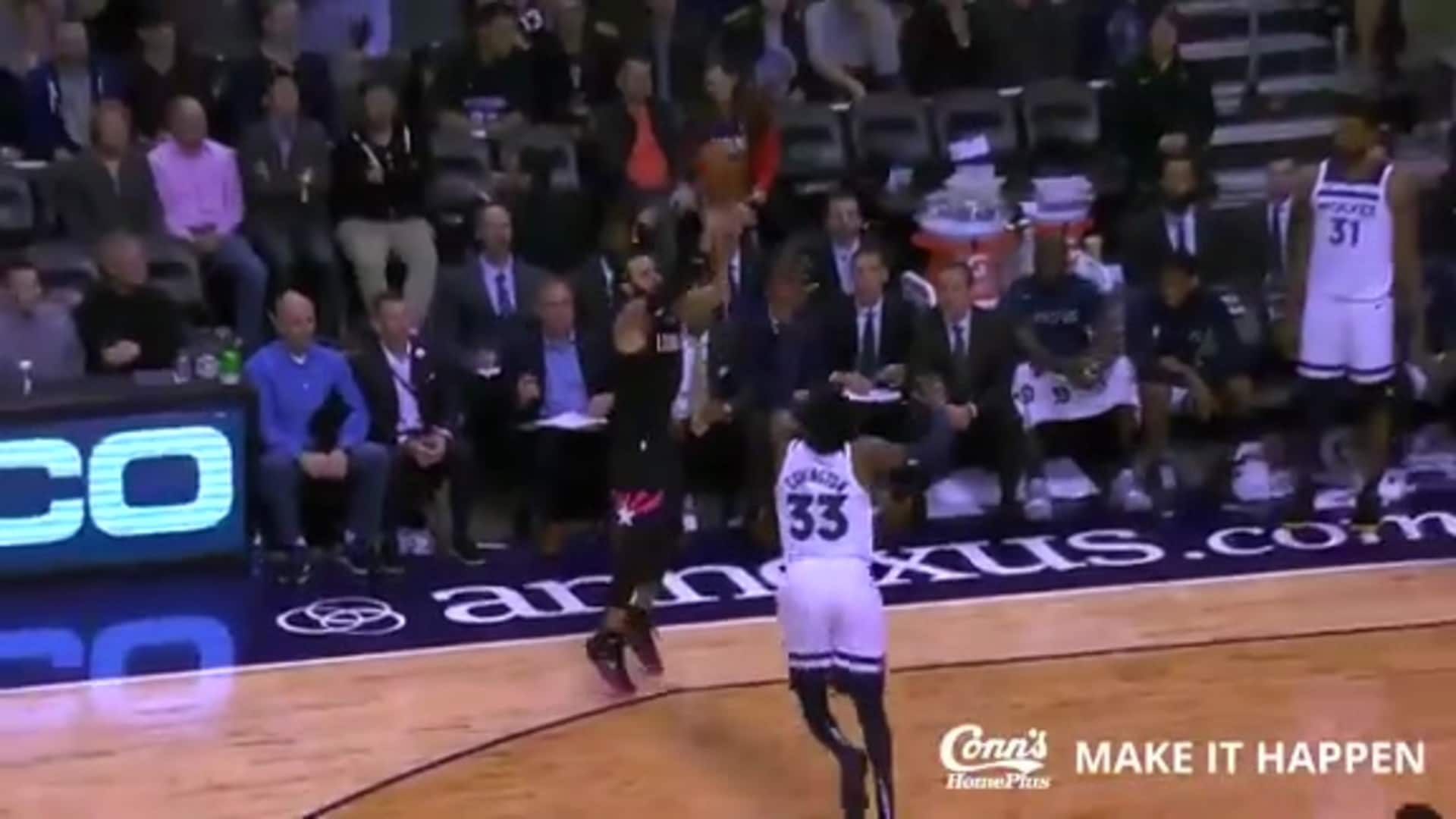 Conn's Make it Happen Play: Rubio Drains it from Deep