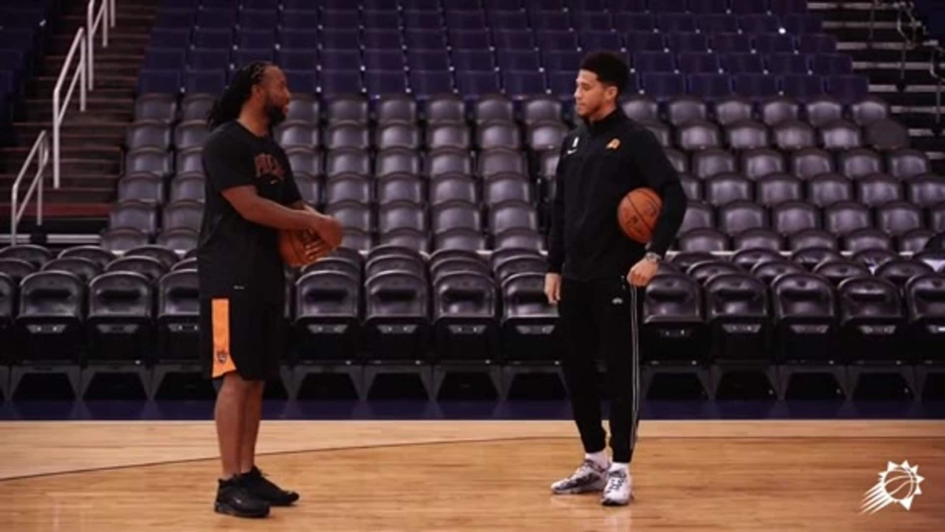 Devin Booker Officially Welcomes Larry Fitzgerald to the Suns