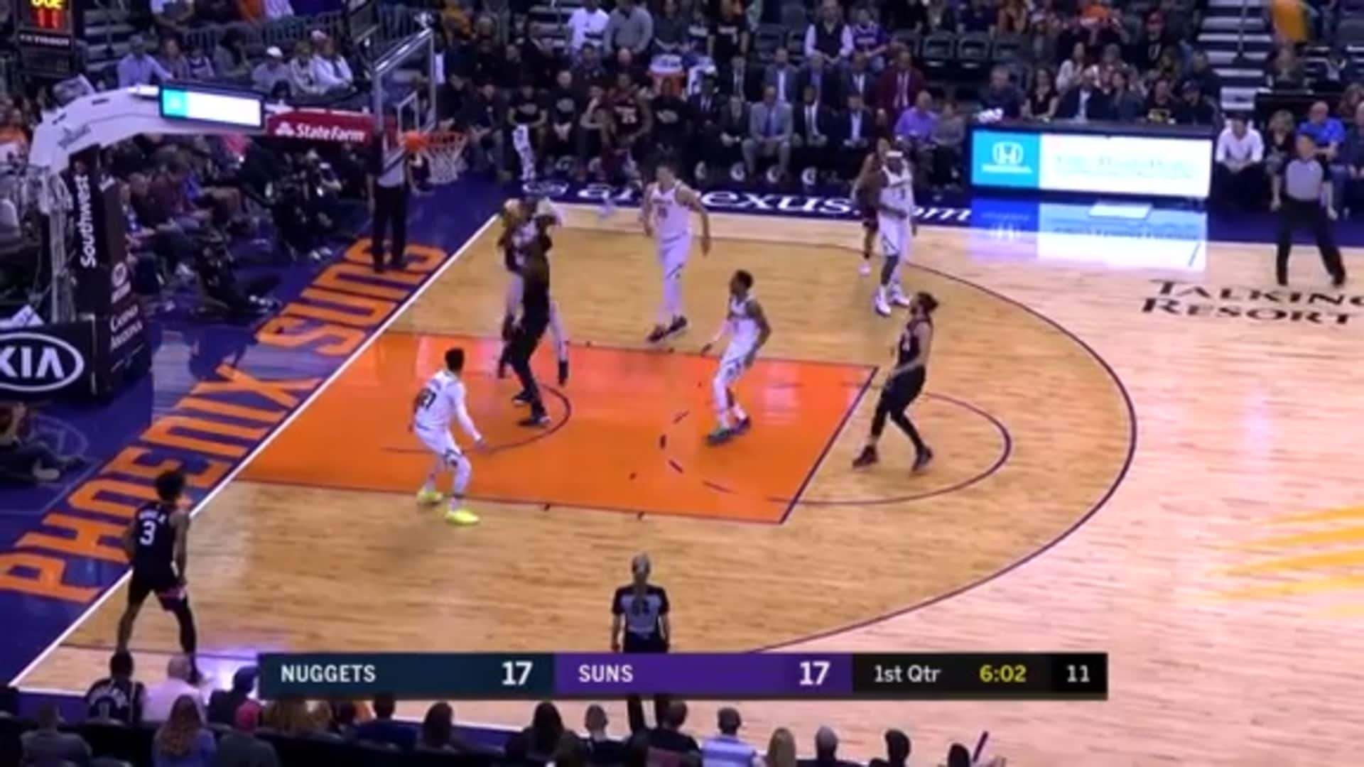Rubio Finds Ayton for Two-Handed Dunk