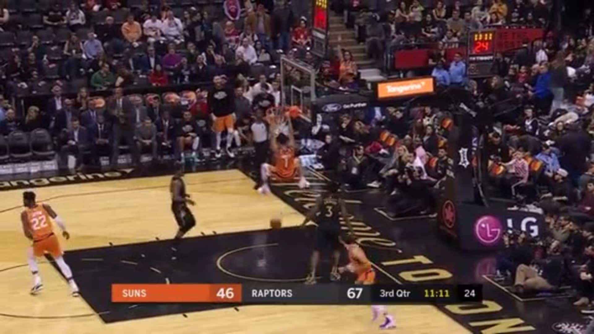 Rubio and Booker Finish a Fast Break