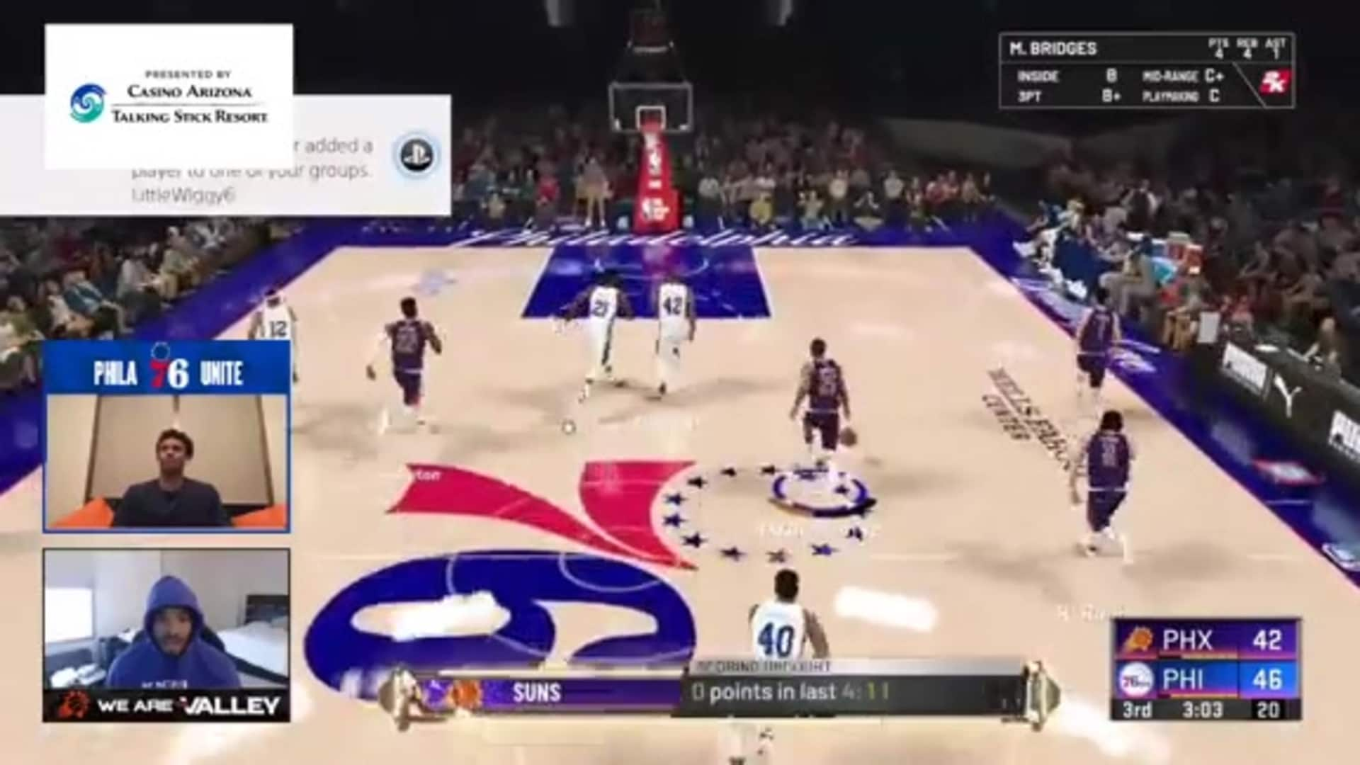 Ayton Slam on Fastbreak vs 76ers on 2K20