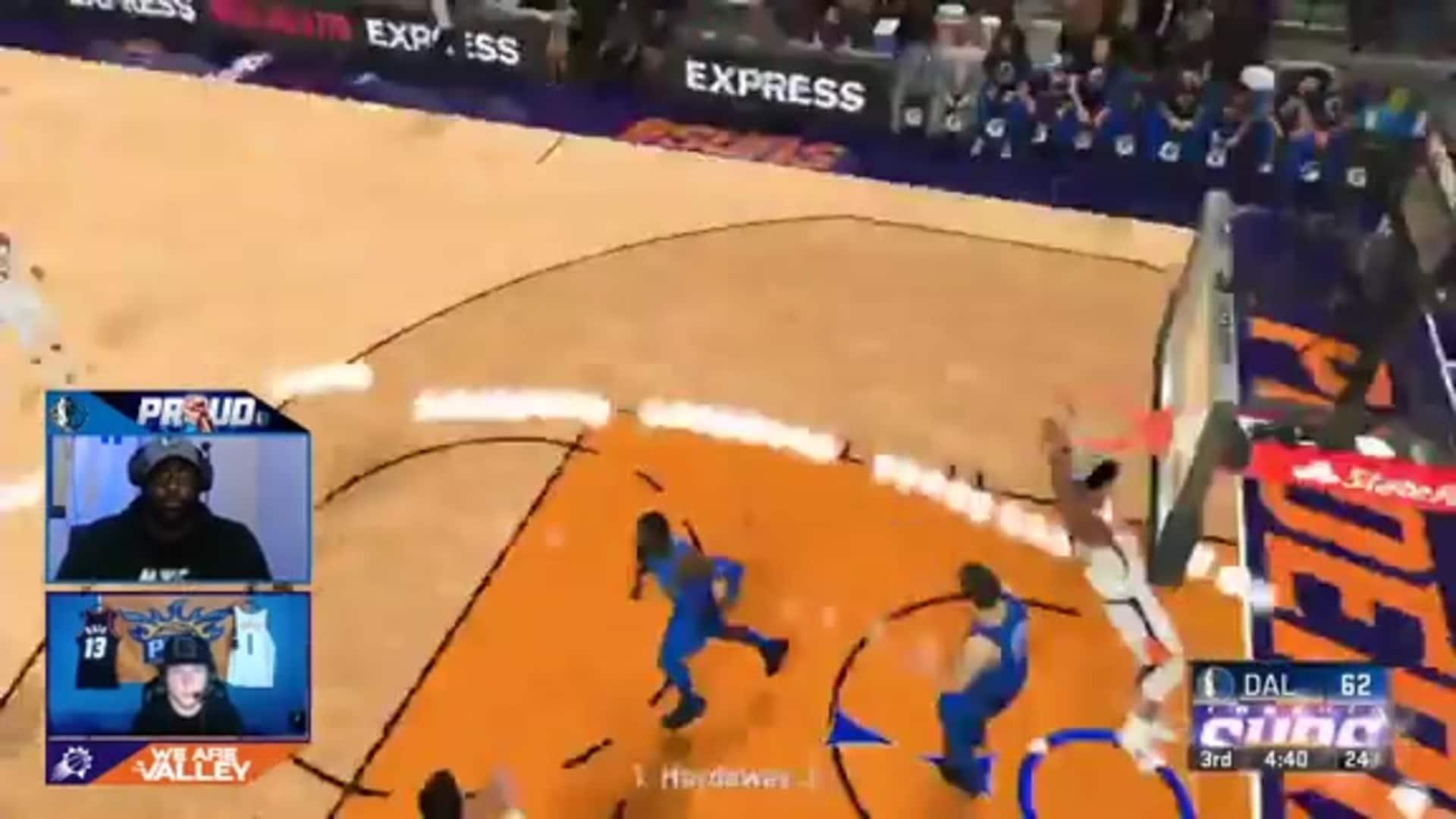 UniversalPhe Throws Down Dunk Using Kelly Oubre Jr. on 2K20