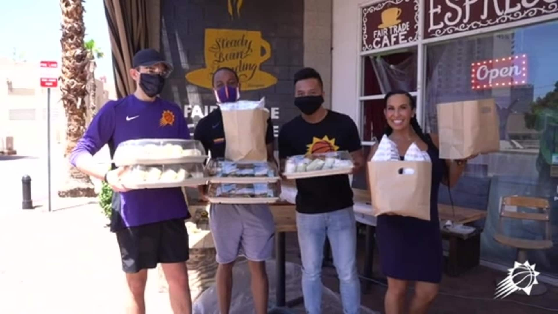 Fair Trade Cafe & Phoenix Suns Charities Food Delivery