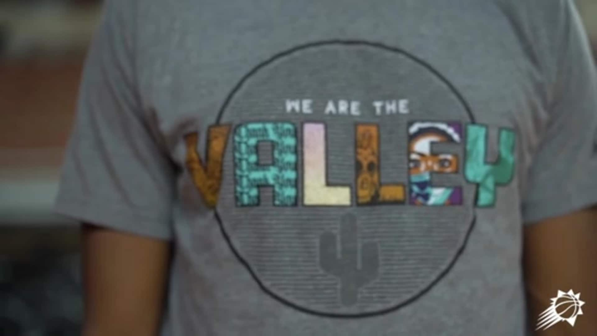 "Phoenix Suns Charities Debuts Artist-Designed ""We Are The Valley"" T-Shirt"