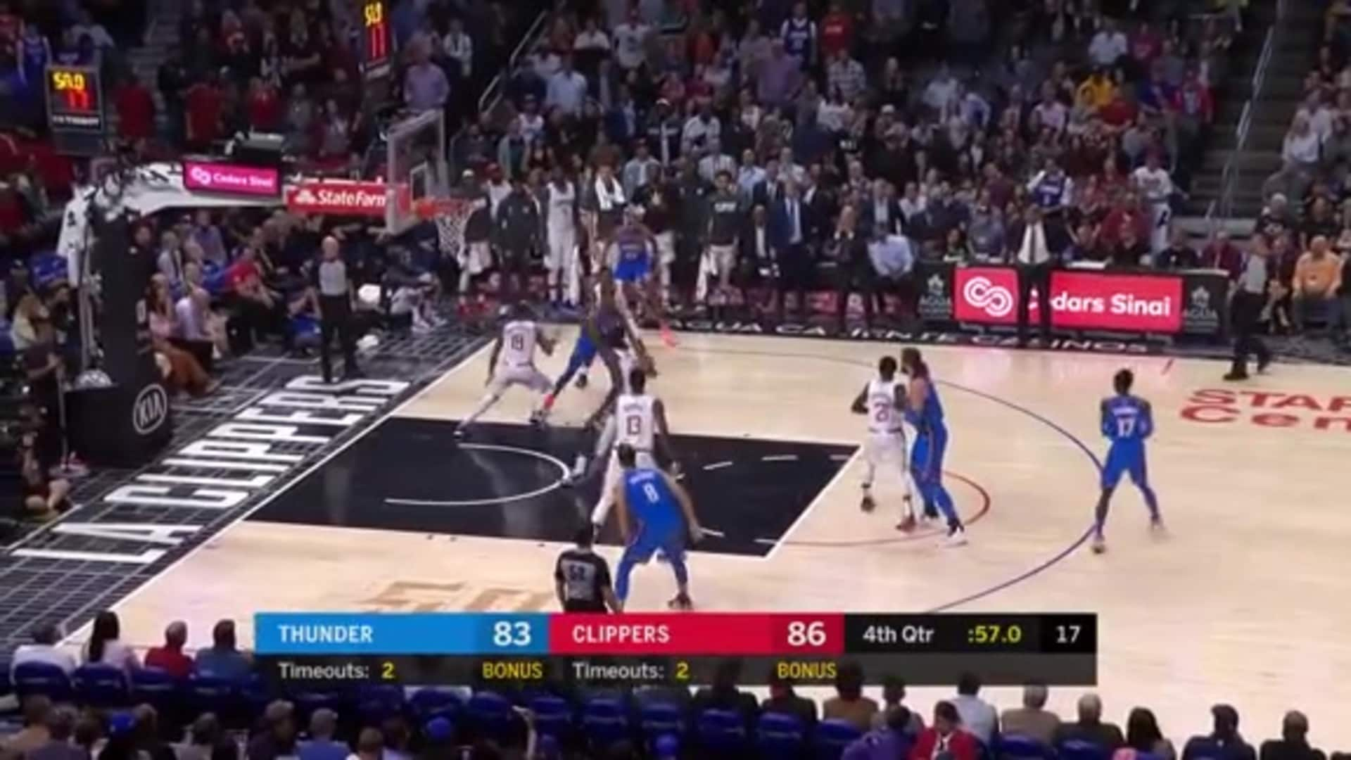 Highlights: Thunder at Clippers