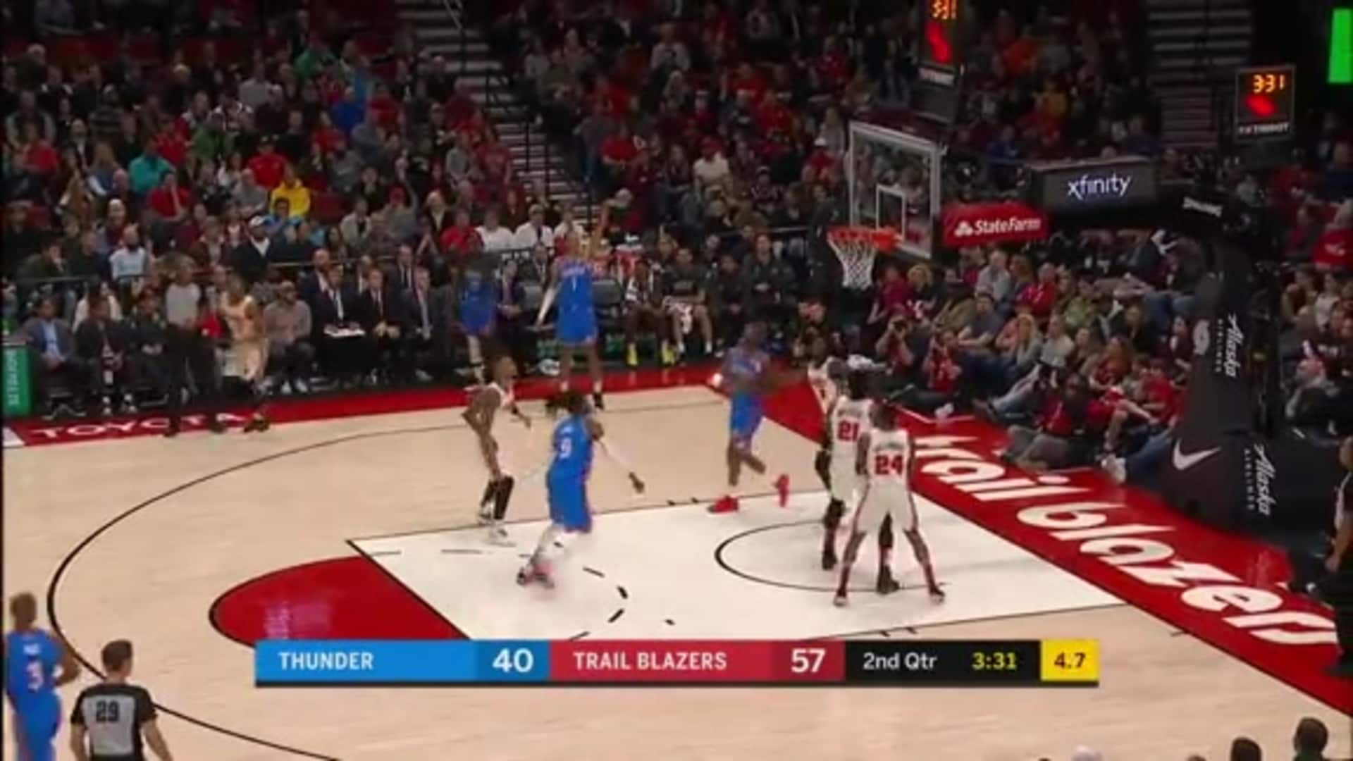 Highlights: Thunder at Blazers