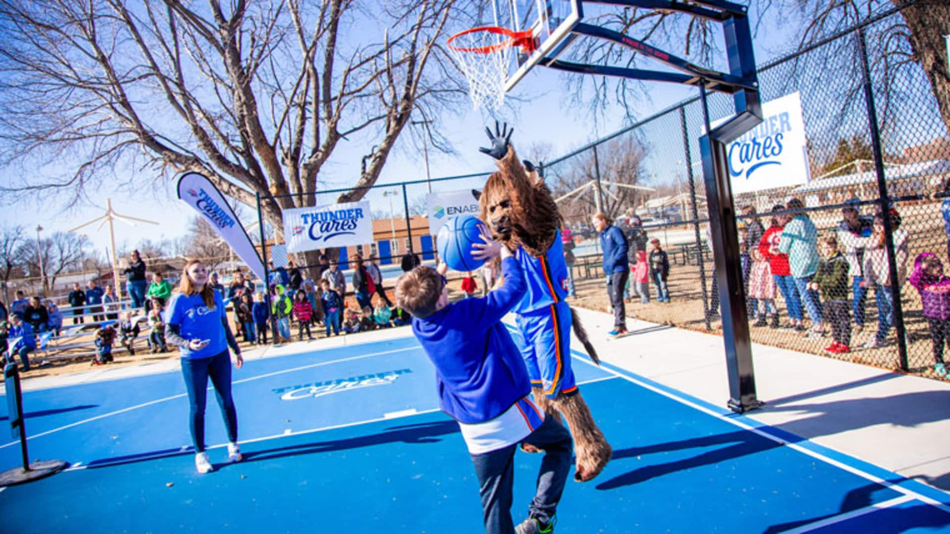 Thunder Court Dedication in Weatherford