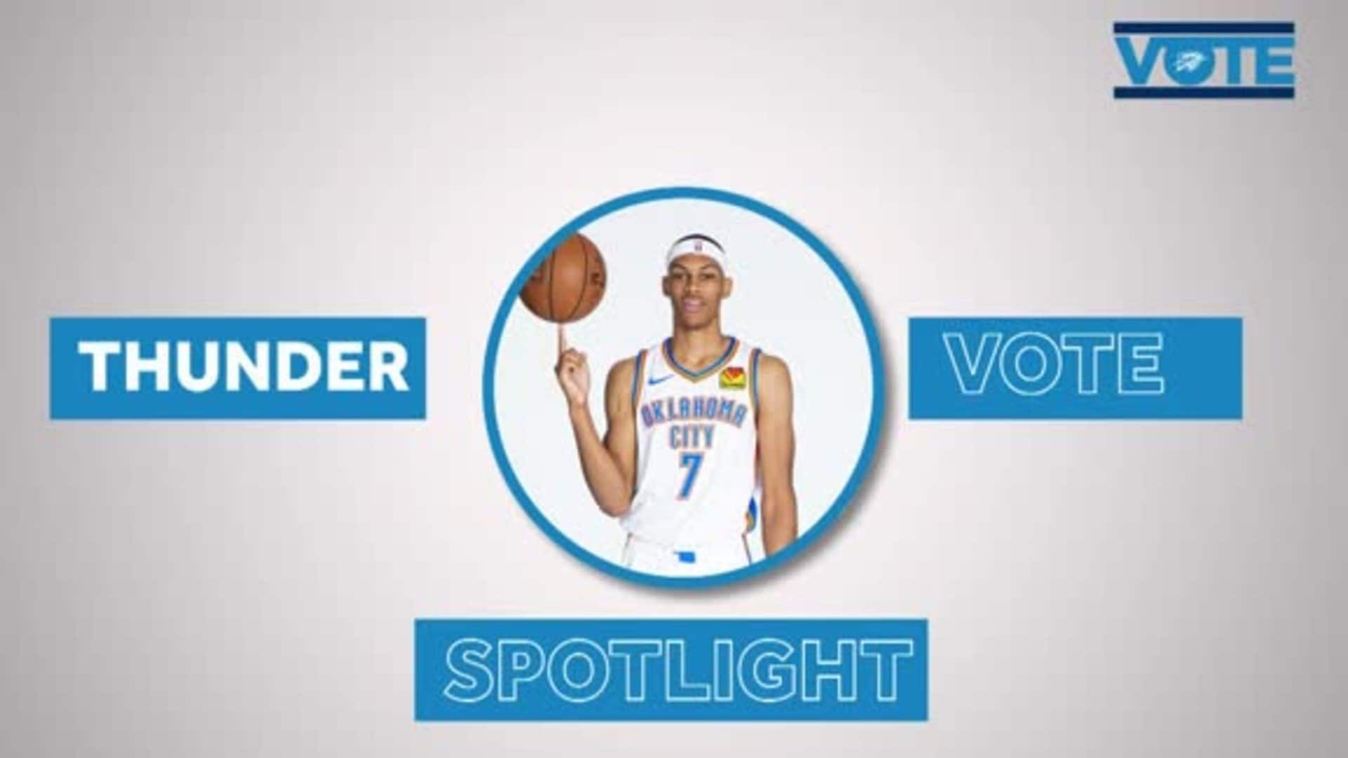 Thunder VOTE Spotlight: Darius Bazley